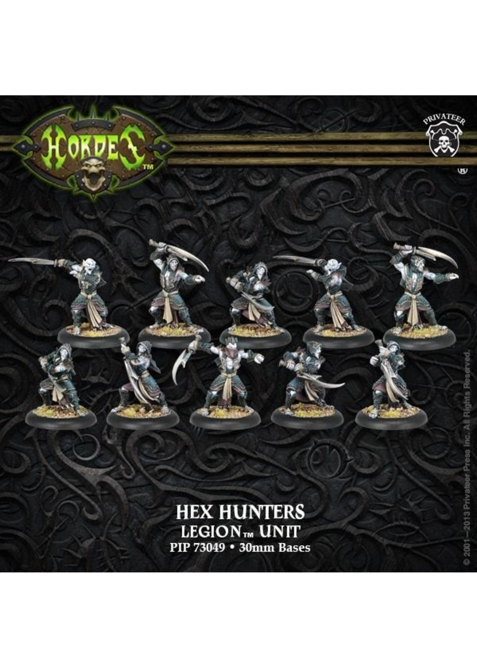 Hordes: Legion of Everblight Blighted Nyss Hex Hunters Unit (White Metal)