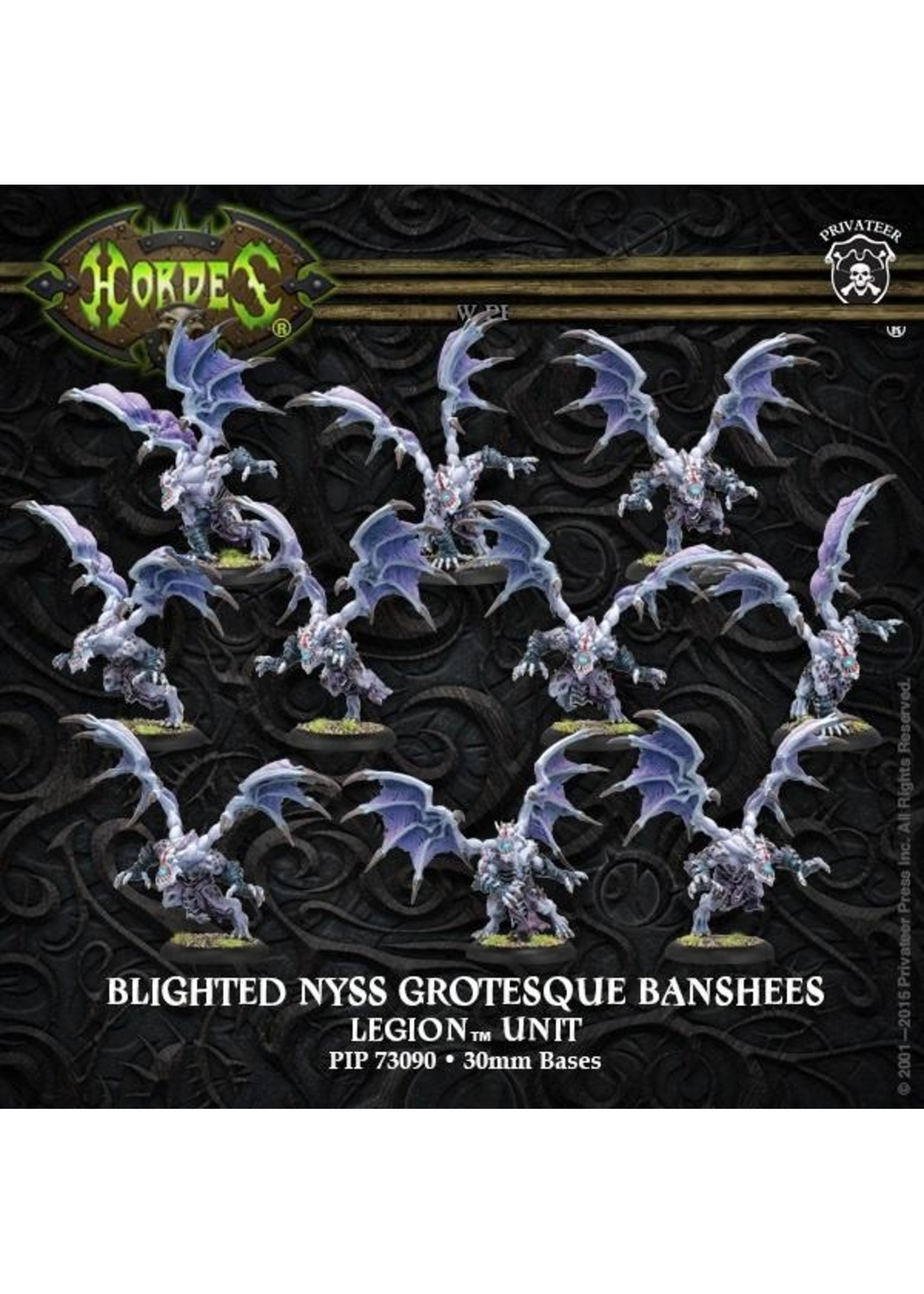 Hordes: Legion of Everblight Blighted Nyss Grotesques Unit (White Metal)