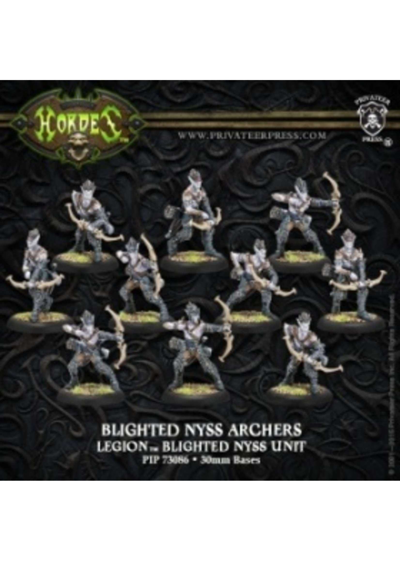 Hordes: Legion of Everblight Blighted Nyss Archers Unit (6) (White Metal)