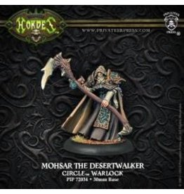 Hordes: Circle Orboros Mohsar the Desertwalker Warlock (White Metal)