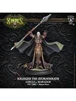 Hordes: Circle Orboros Krueger the Stormwrath Warlock (White Metal)