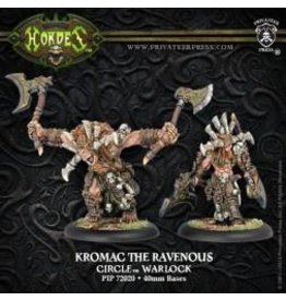 Hordes: Circle Orboros Kromac the Ravenous Tharn Warlock (White Metal)