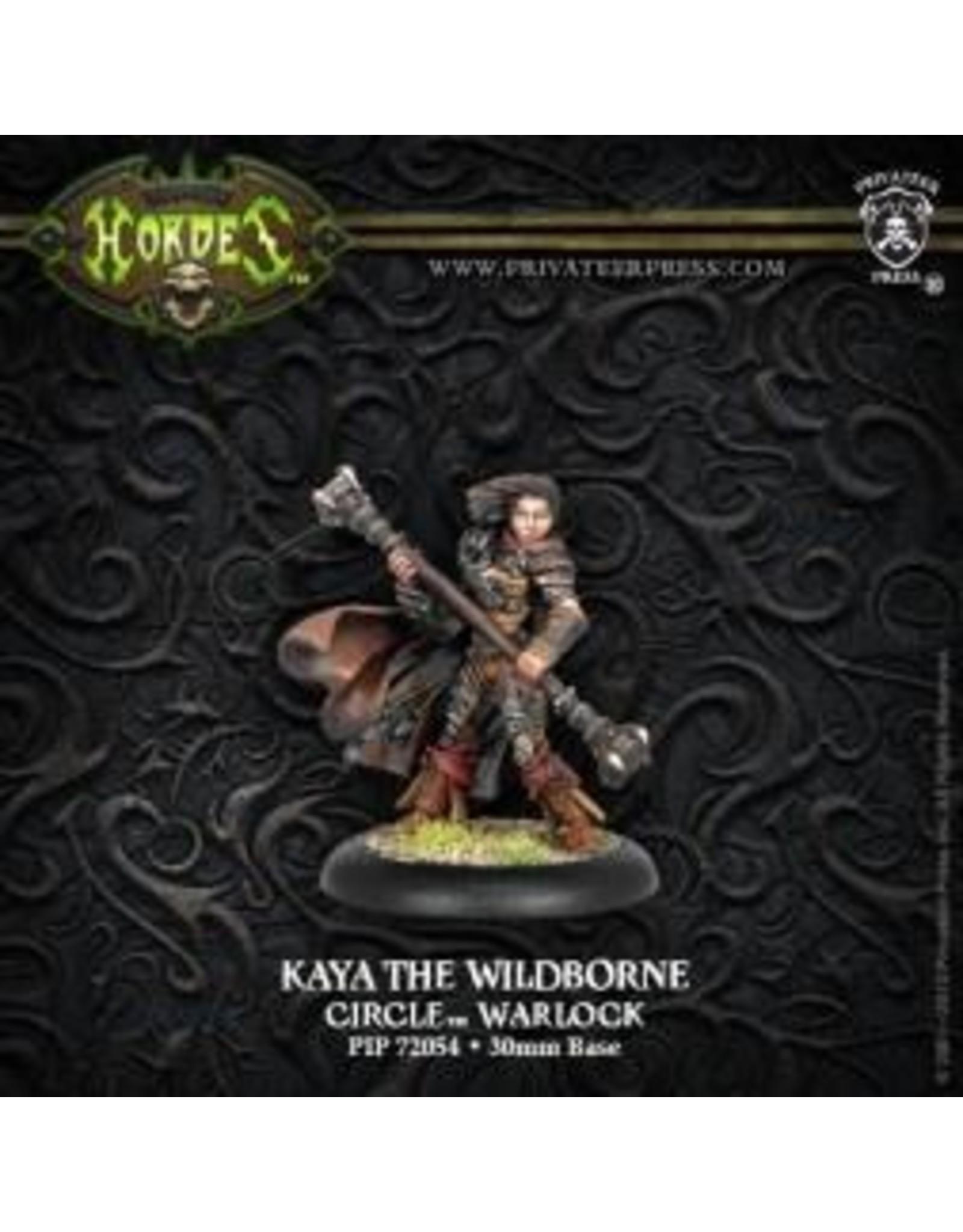 Hordes: Circle Orboros Kaya the Wildborne Warcaster (Variant) (White Metal)