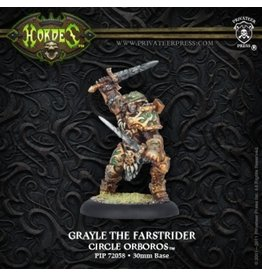 Hordes: Circle Orboros Grayle the Farstrider Warlock (White Metal)