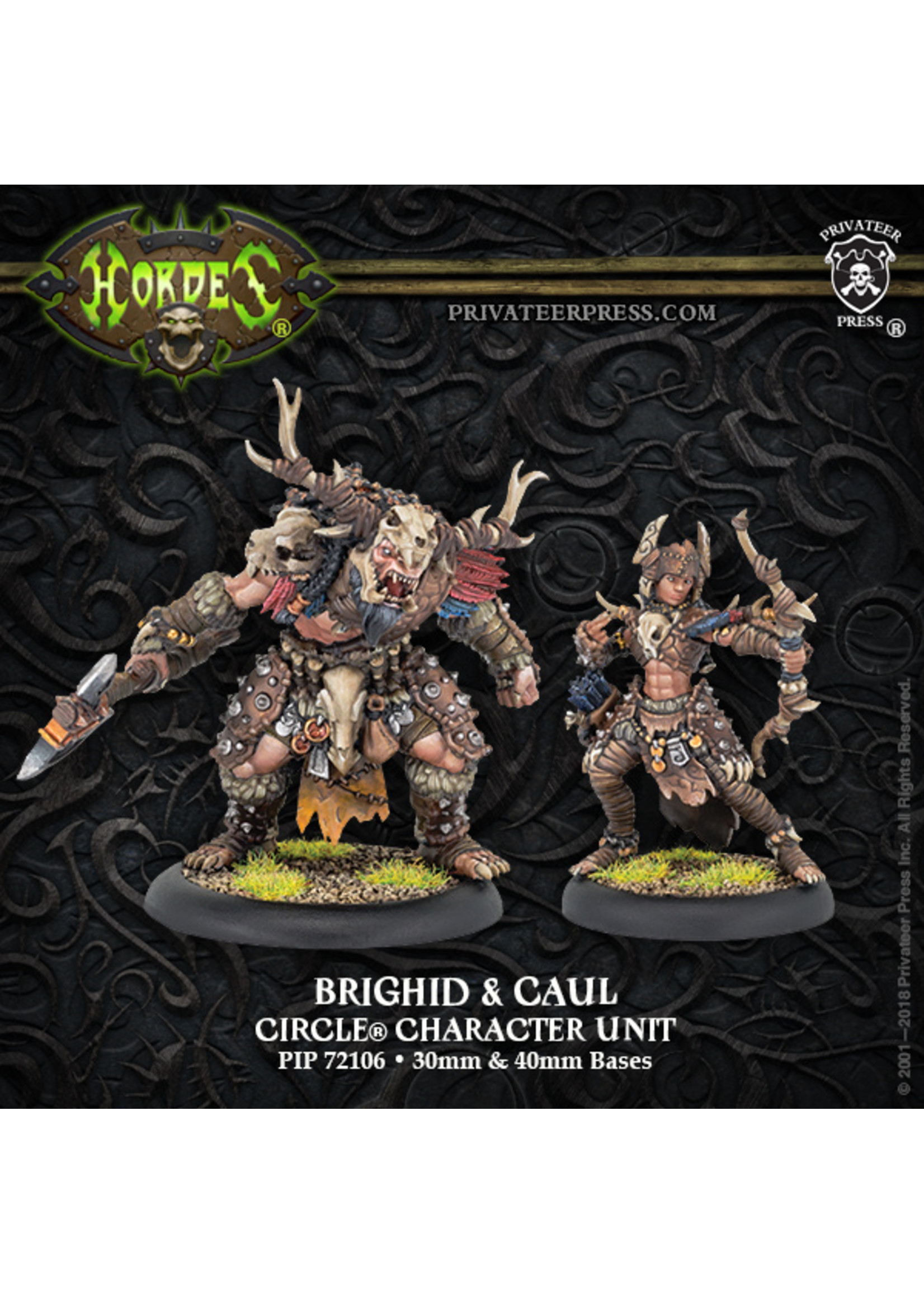 Hordes: Circle Orboros Brighid & Caul Character Unit (Resin and White Metal)