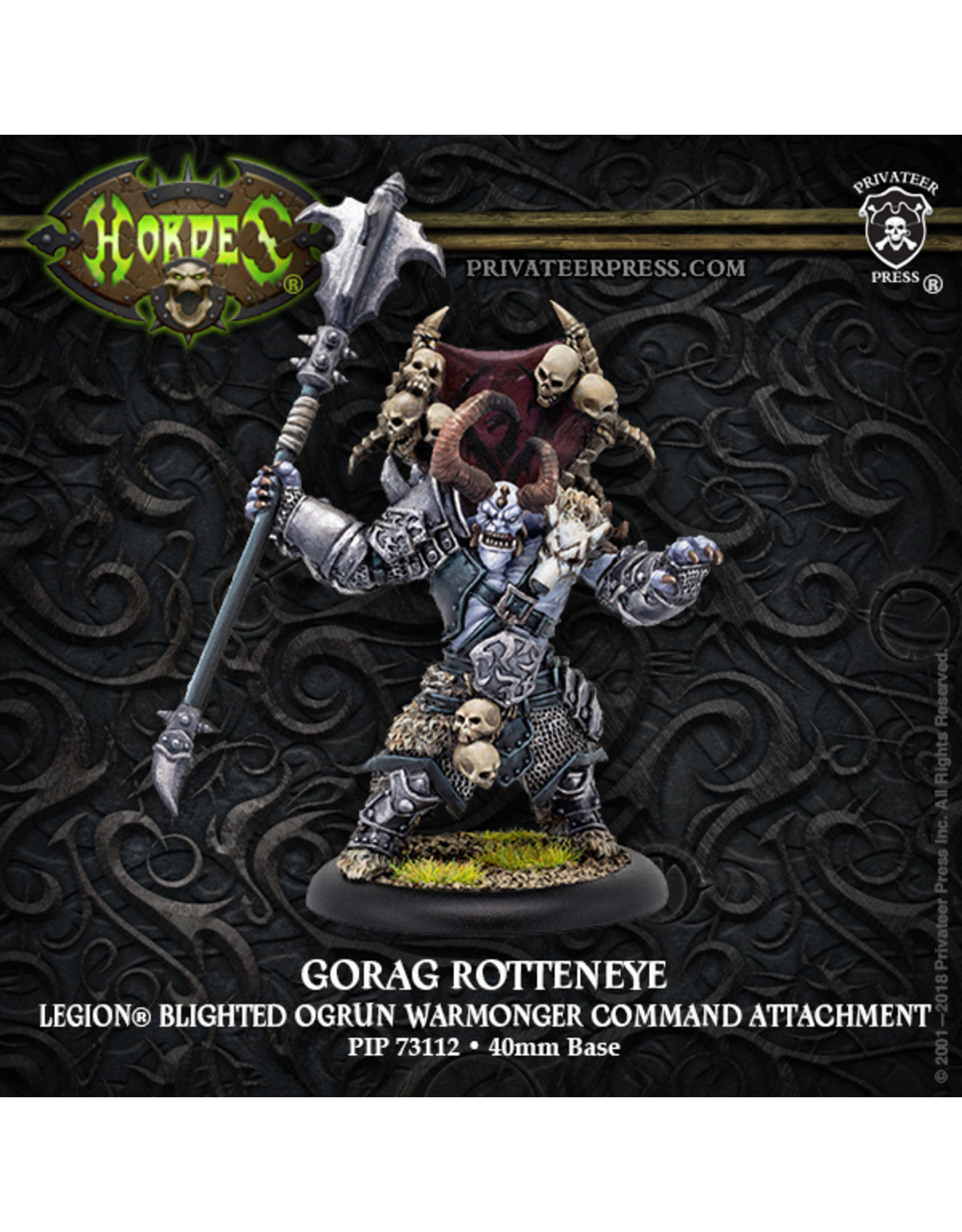 Hordes: Legion of Everblight Gorag Rotteneye Character Solo (Resin and White Metal)