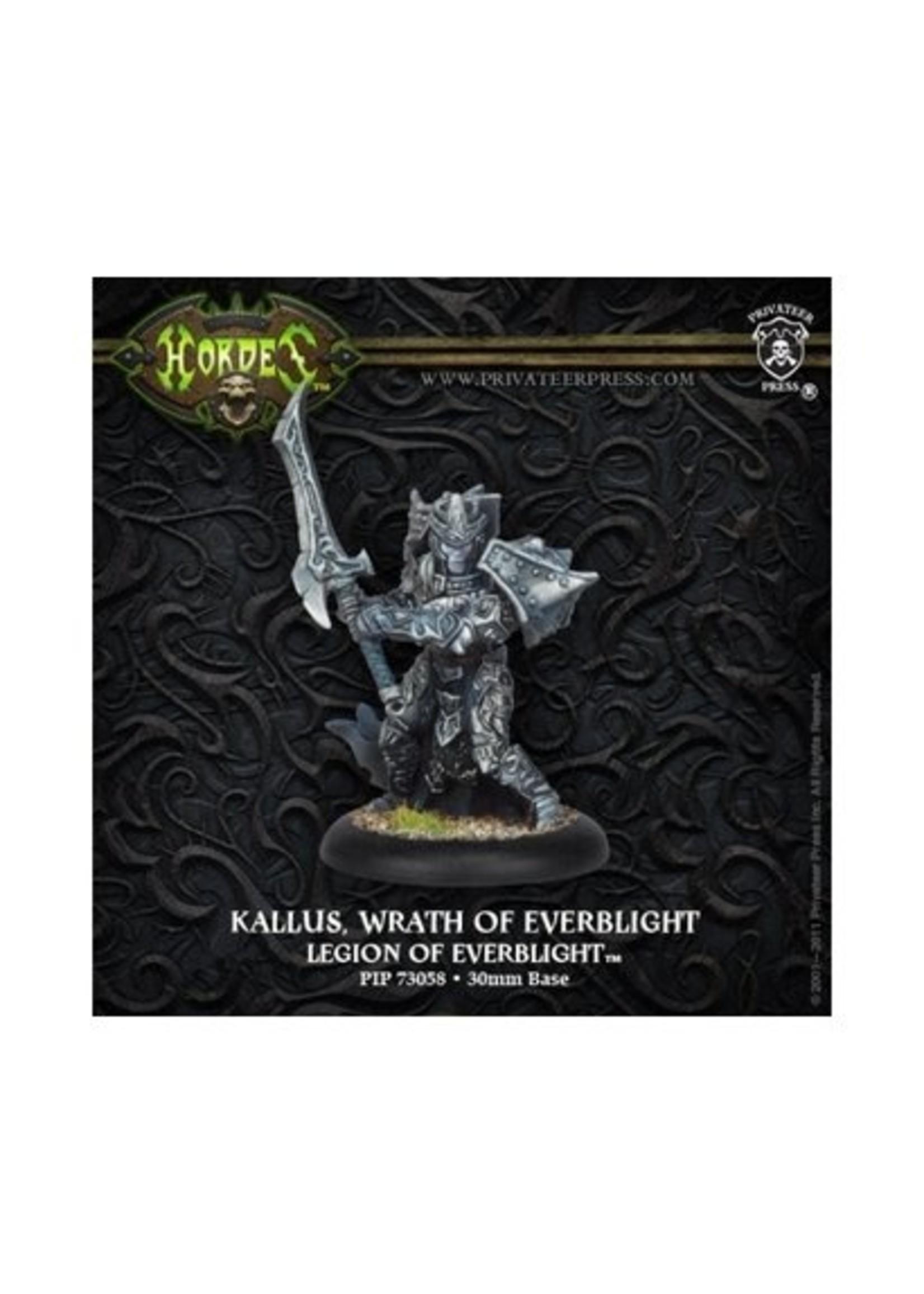 Hordes: Legion of Everblight Kallus, Wrath of Everblight Warlock (White Metal)