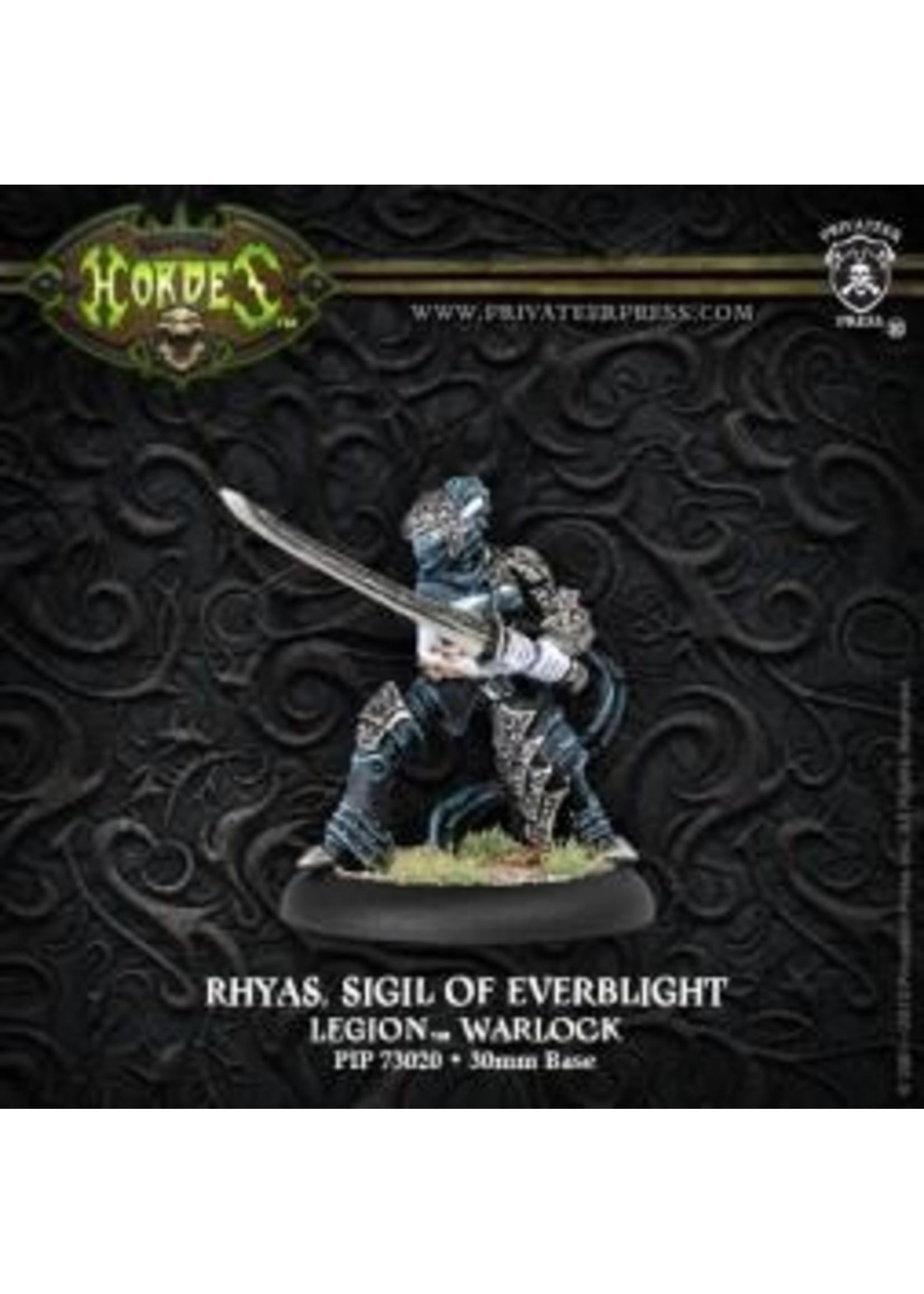 Hordes: Legion of Everblight Rhyas, Sigil of Everblight Blighted Nyss Warlock (White Metal)