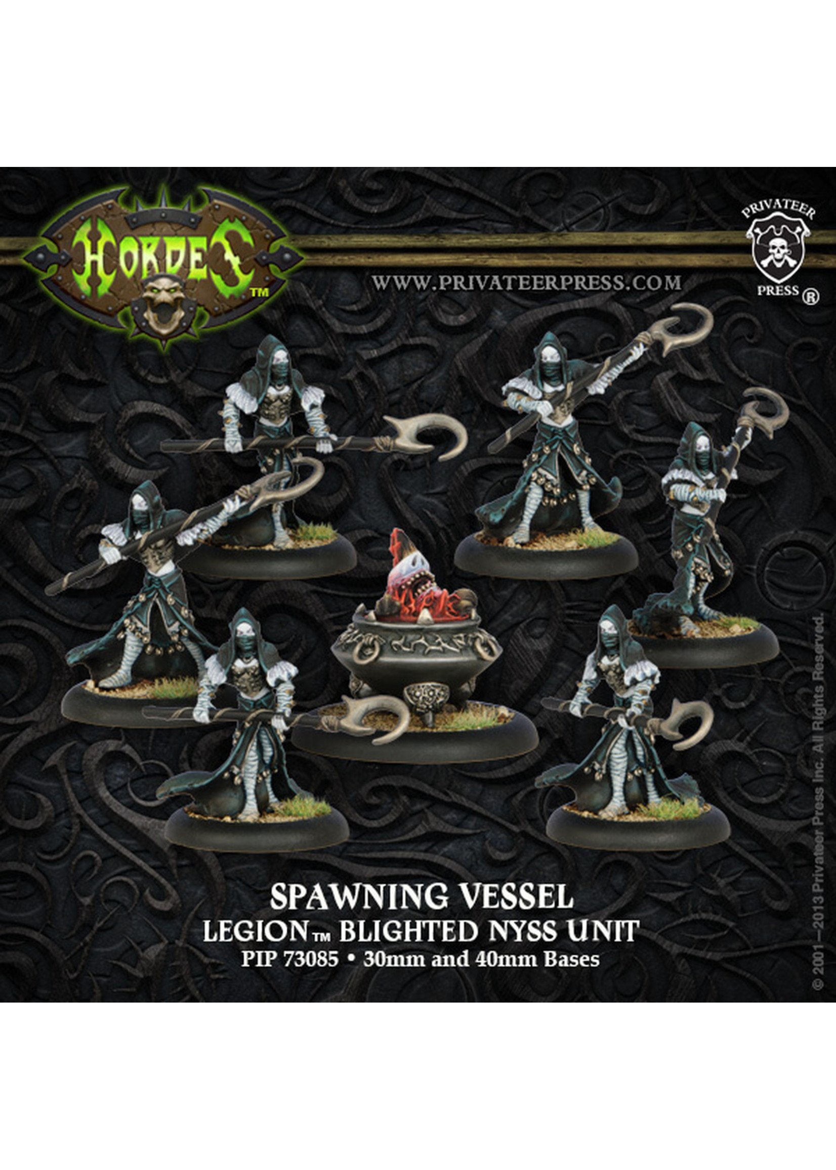Hordes: Legion of Everblight Spawning Vessel Blighted Nyss Unit (White Metal)