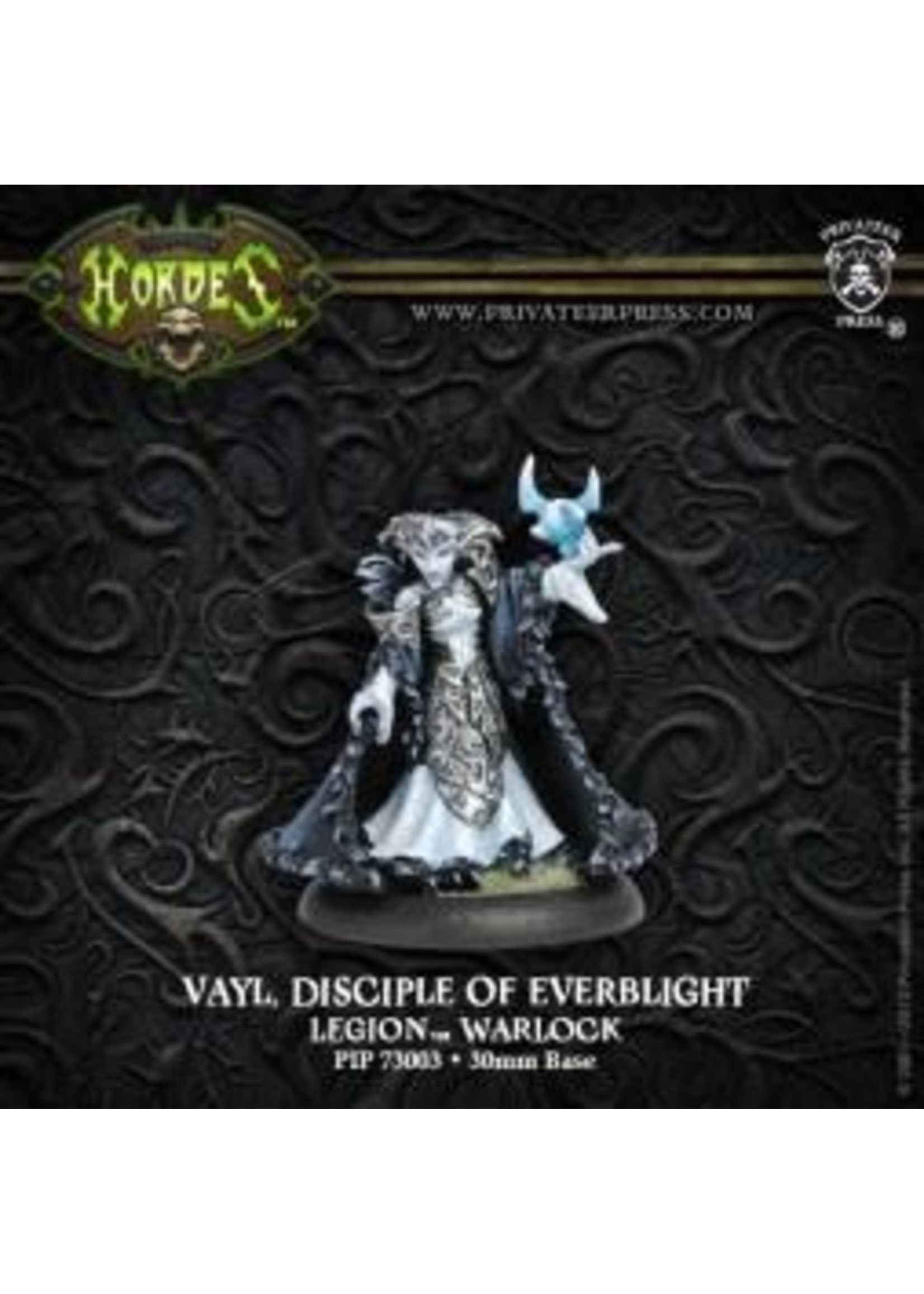 Hordes: Legion of Everblight Vayl, Disciple of Everblight Blighted Nyss Warlock (White Metal)