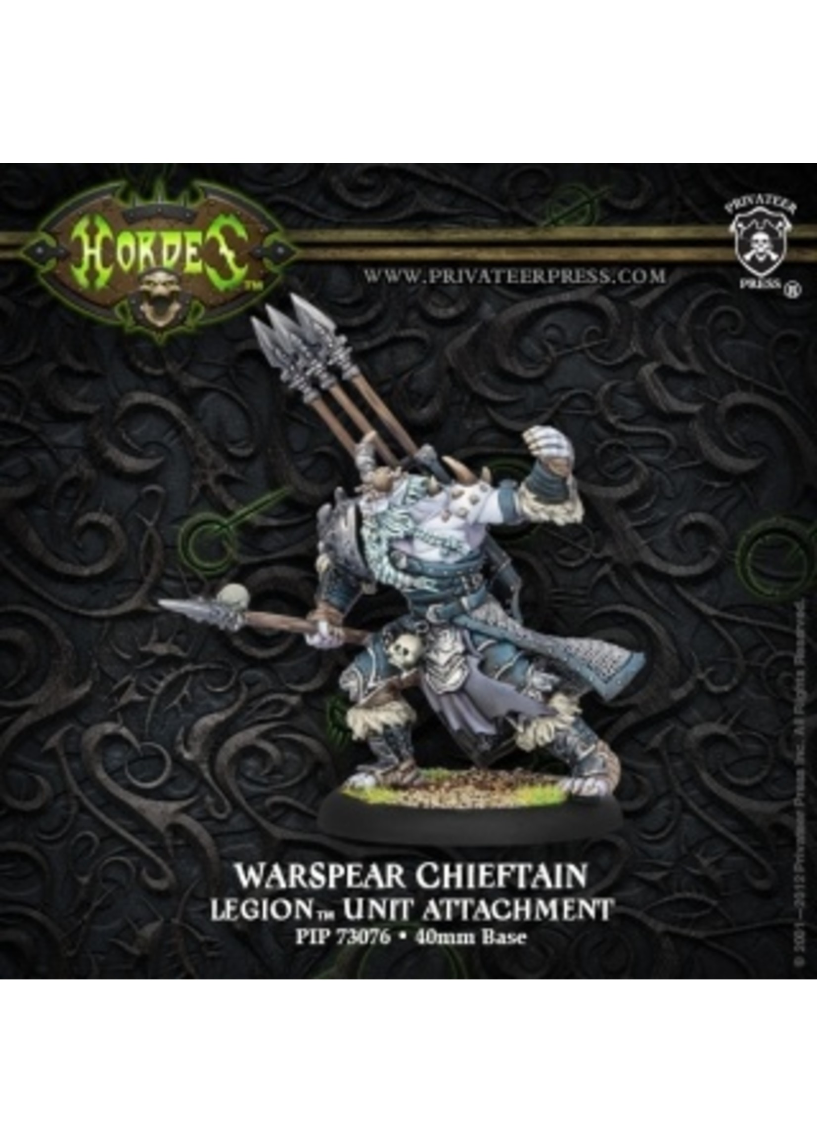 Hordes: Legion of Everblight Warspear Chieftain Light Warbeast (White Metal)