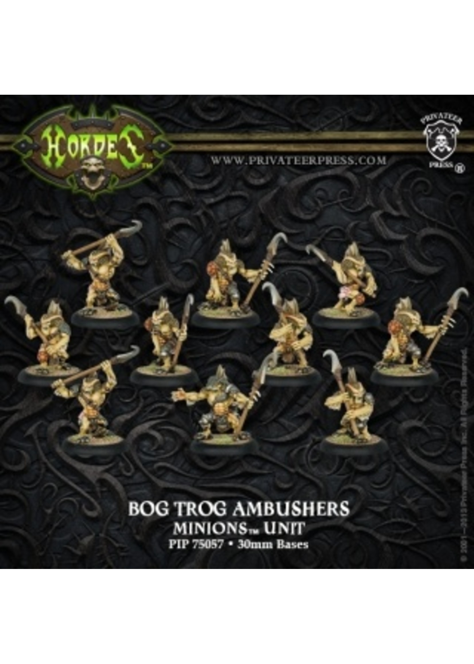 Hordes: Minions Bog Trog Ambushers Unit (White Metal)