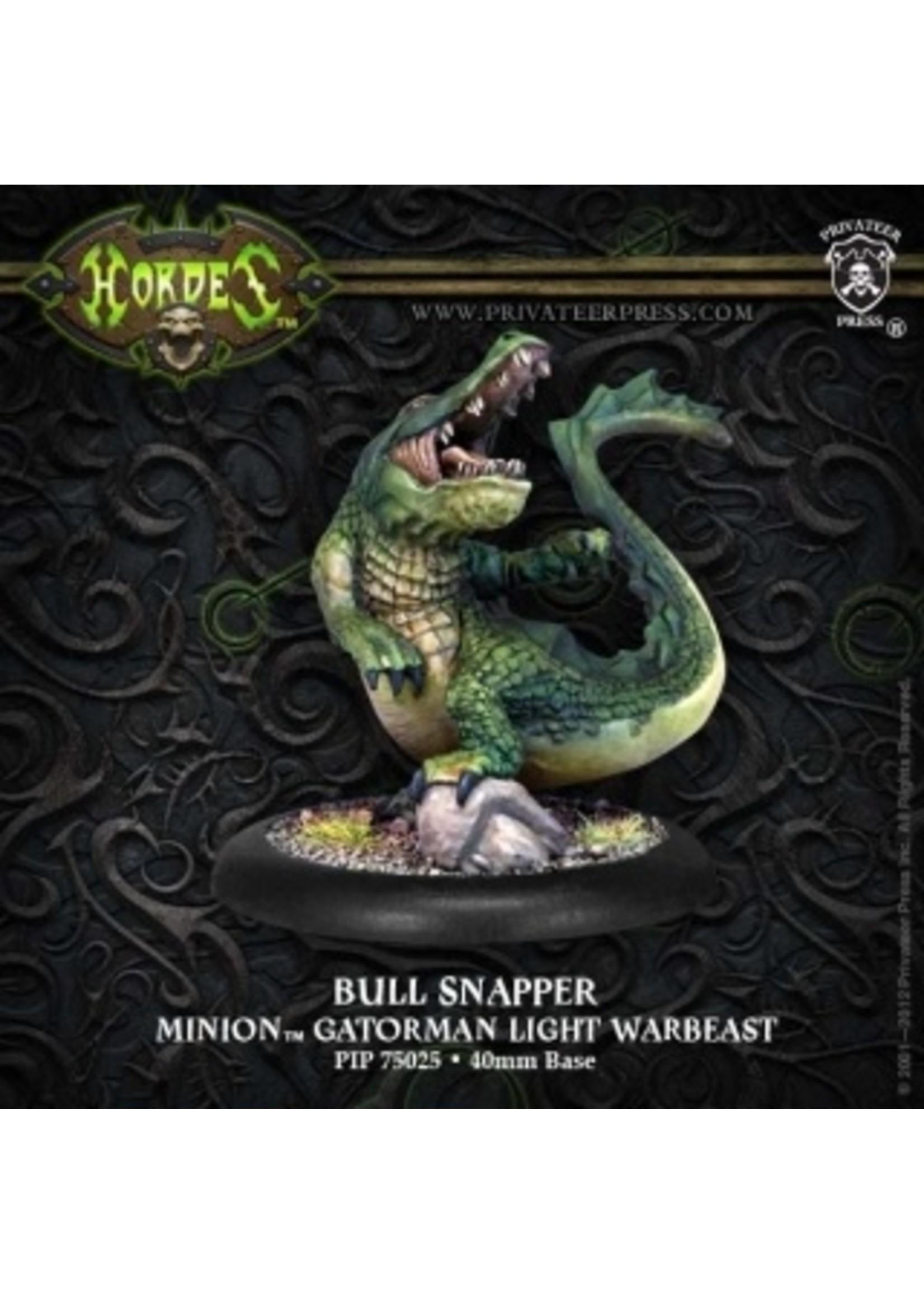 Hordes: Minions Bull Snapper Gatorman Light Warbeast (White Metal)