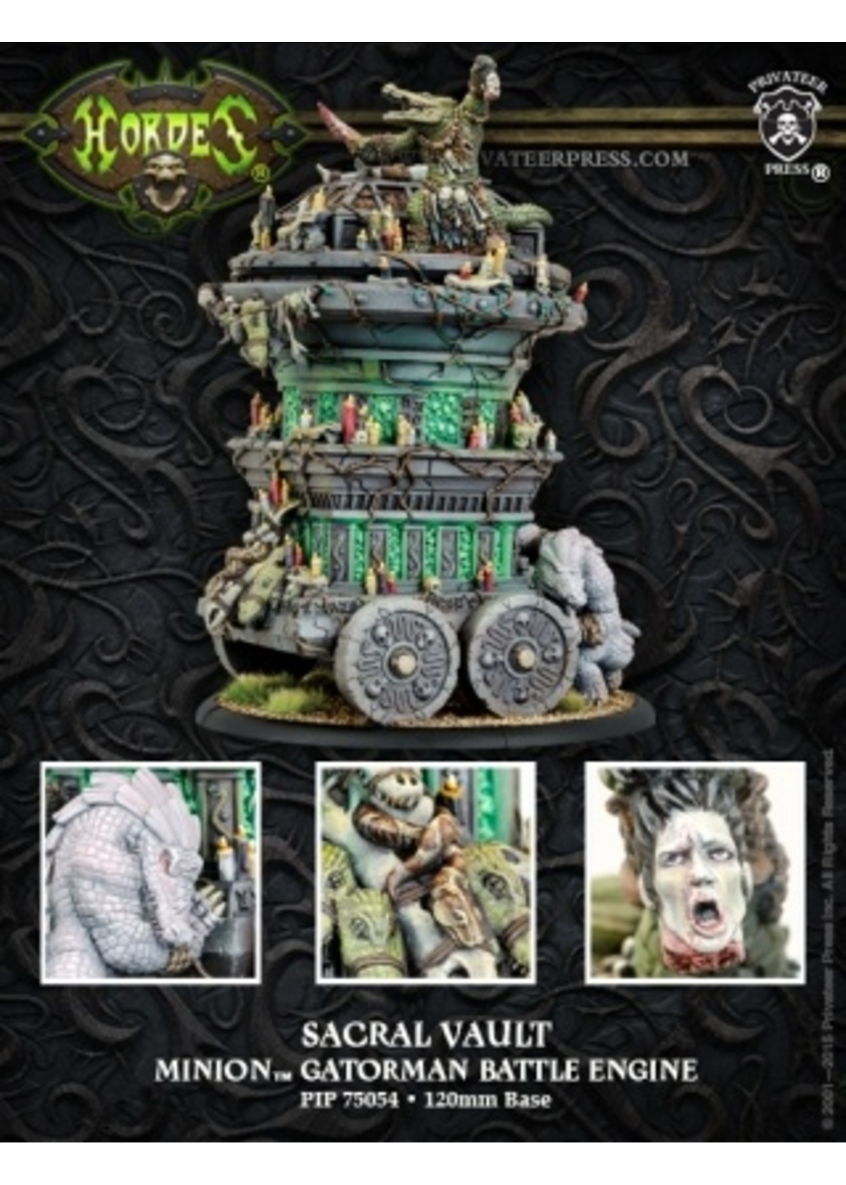 Hordes: Minions Gatorman Sacral Vault Battle Engine (Resin and White Metal)