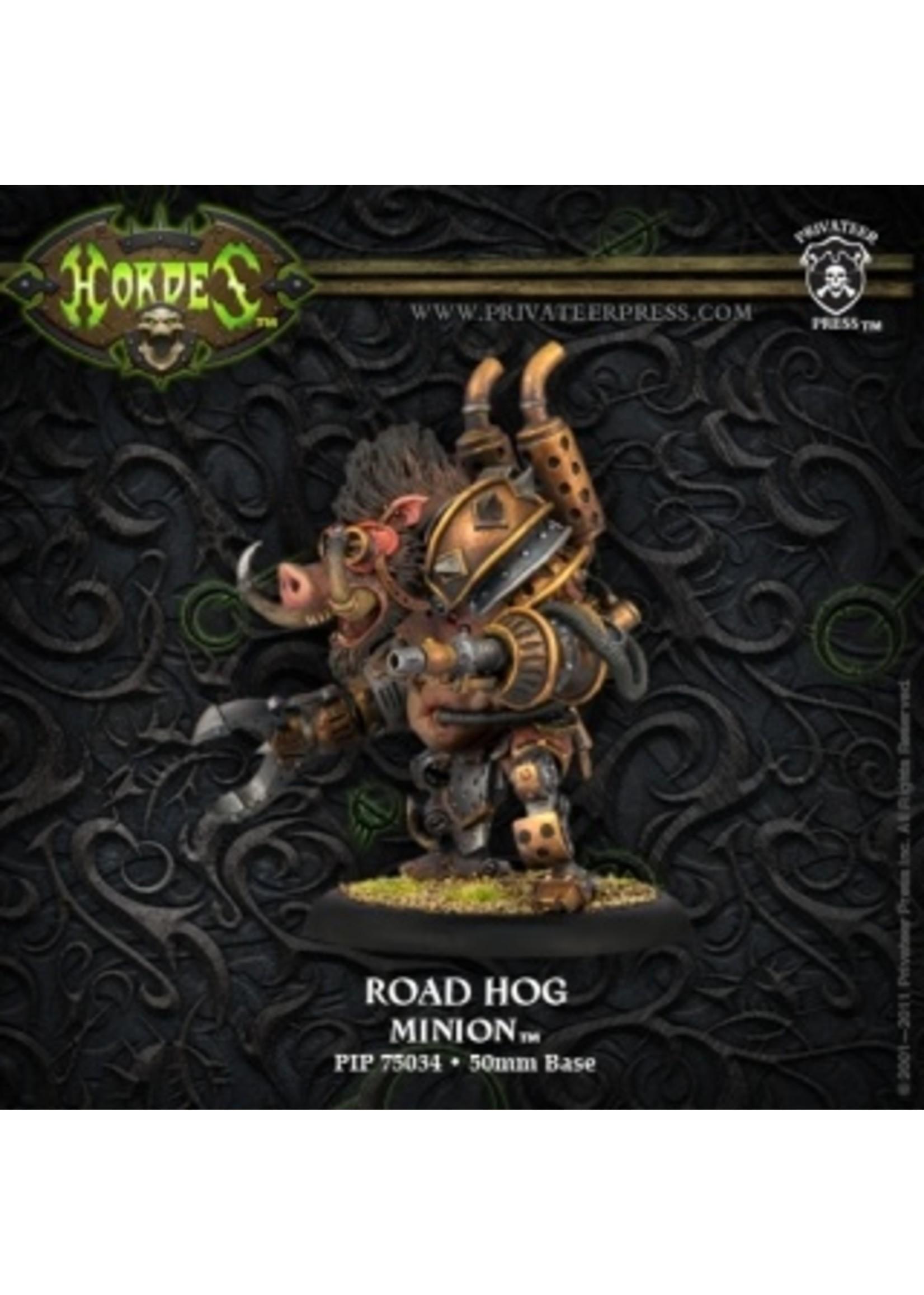Hordes: Minions Road Hog Farrow Heavy Warbeast (White Metal)