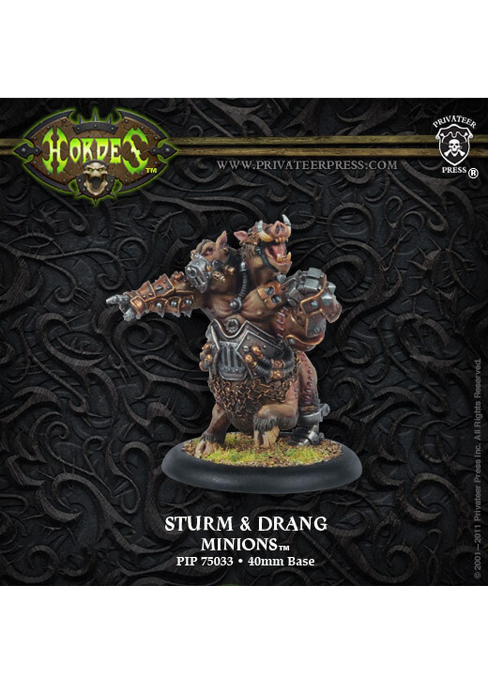Hordes: Minions Sturm and Drang Farrow Warlock (White Metal)