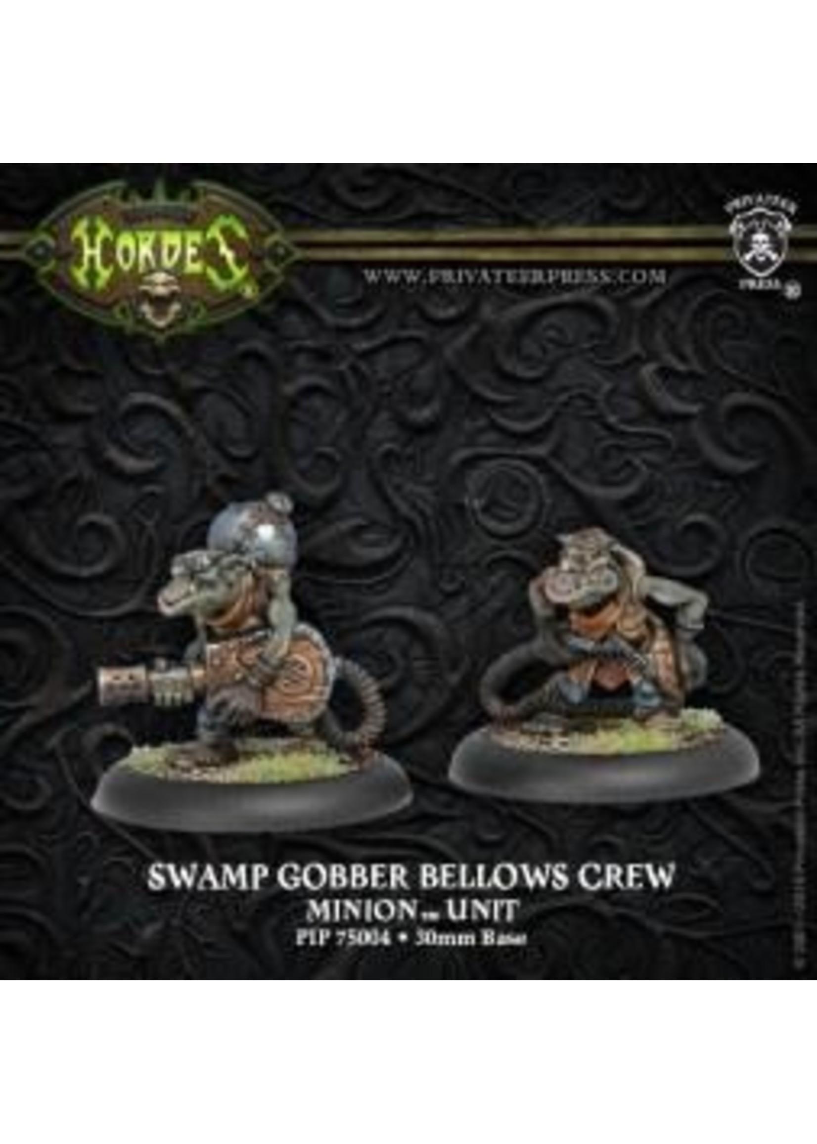 Hordes: Minions Swamp Gobber Bellows Crew Unit (White Metal)