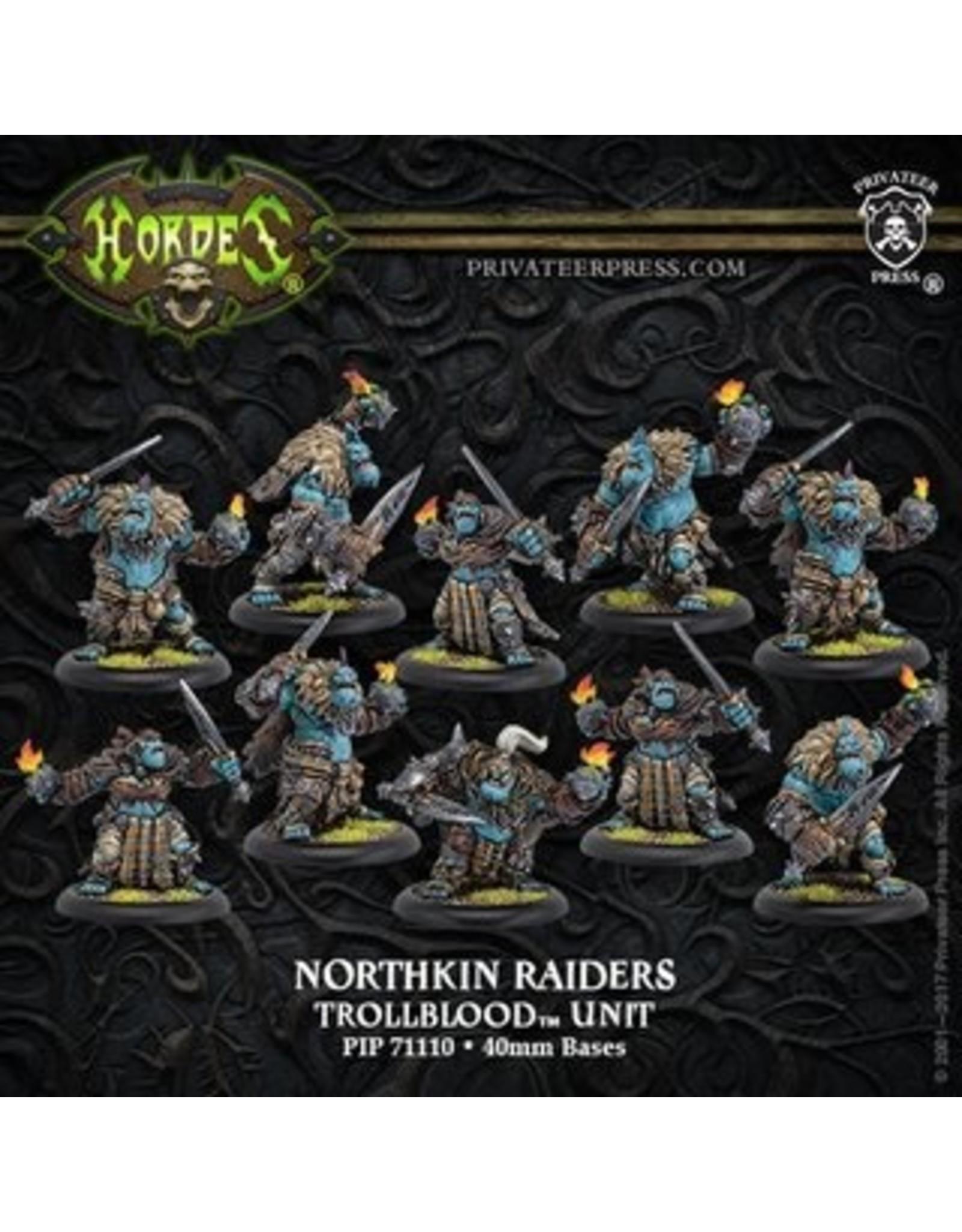 Hordes: Trollblood Northkin Raiders Unit Attachment (Resin/Metal)