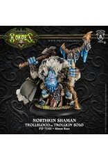 Hordes: Trollblood Northkin Shaman Trollkin Solo (Resin and White Metal)
