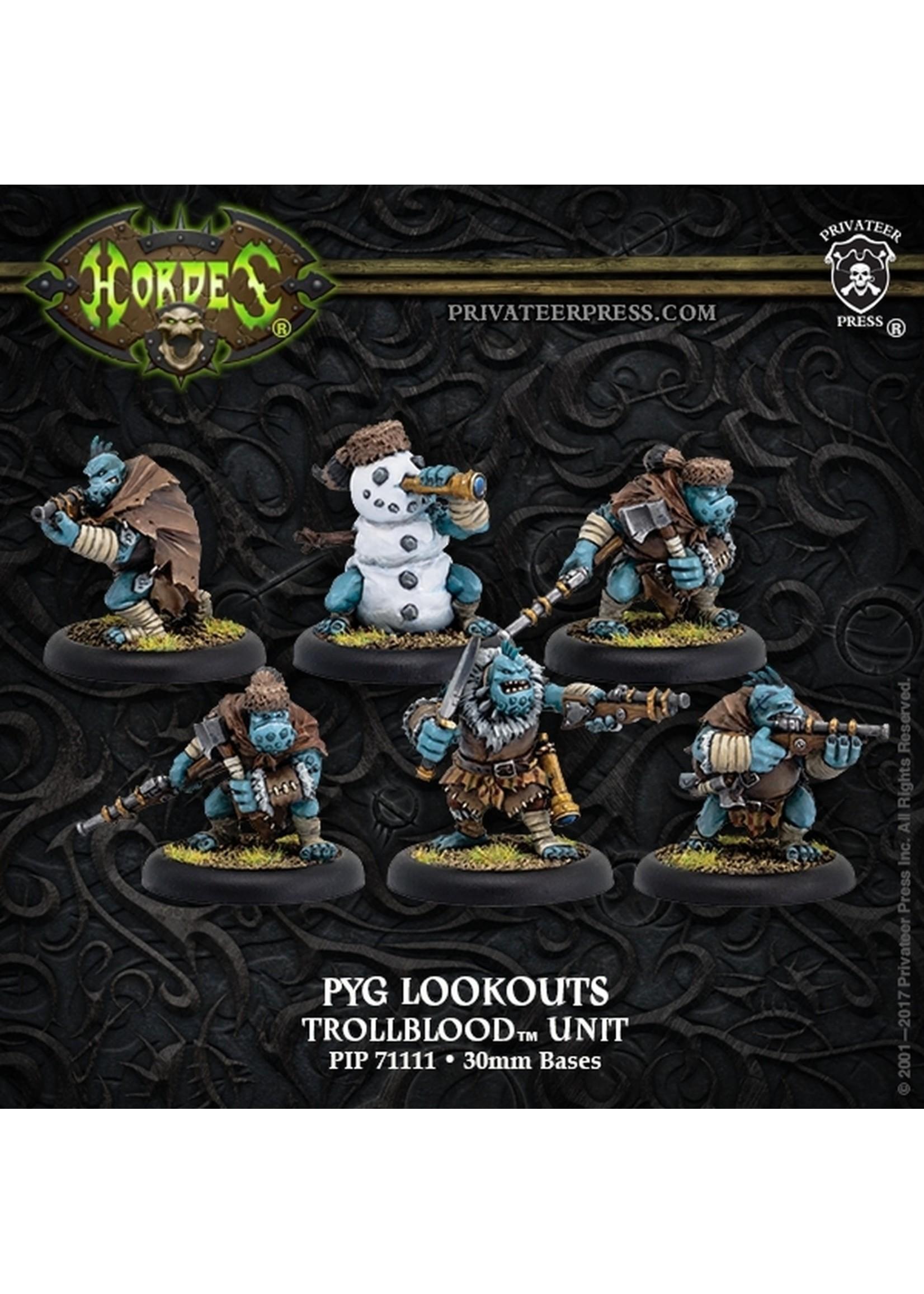 Hordes: Trollblood Pyg Lookout Unit (6) (Resin/White Metal)