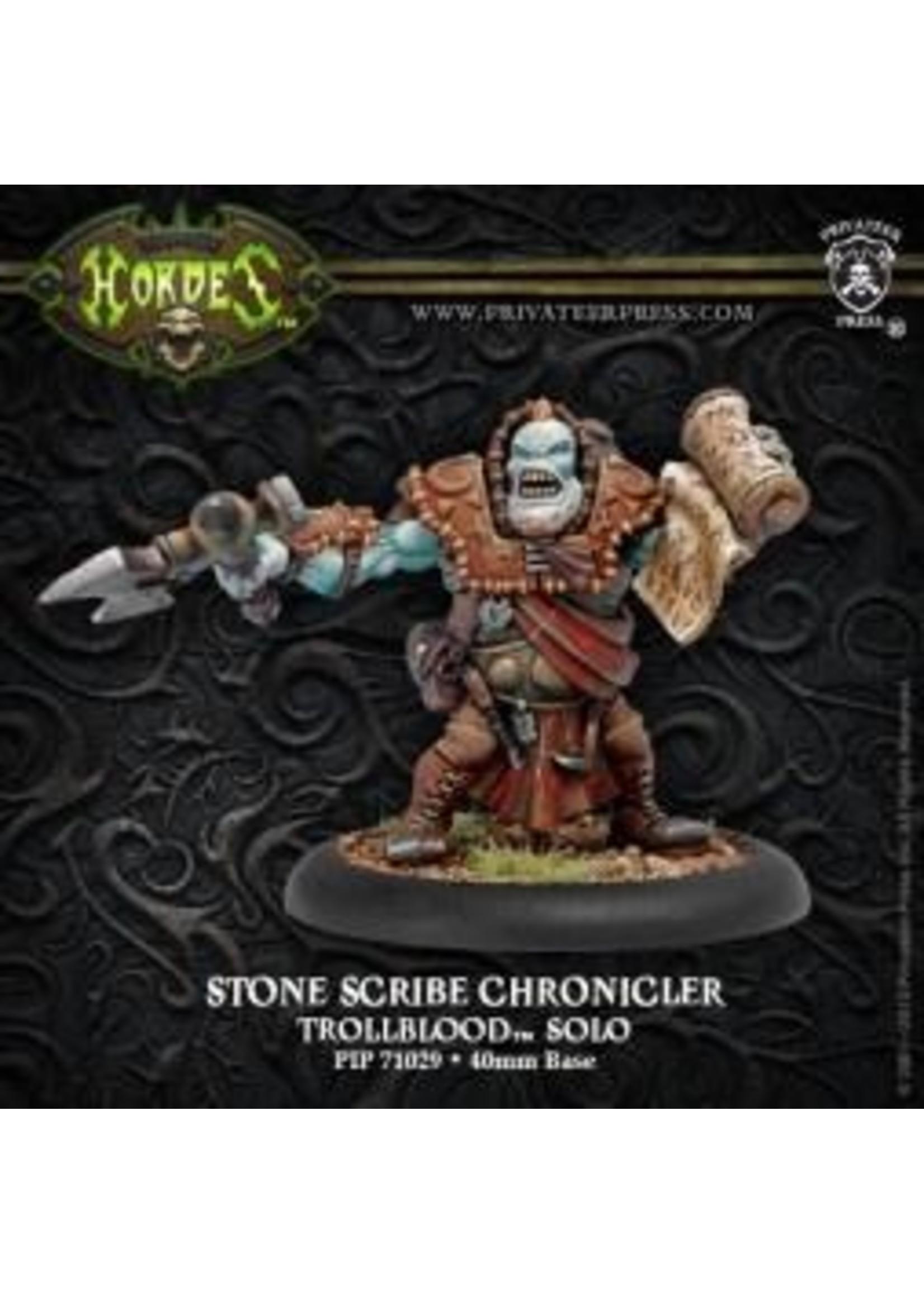 Hordes: Trollblood Stone Scribe Chronicler Trollkin Solo (White Metal)