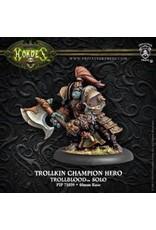 Hordes: Trollblood Trollkin Champion Hero Solo (White Metal)
