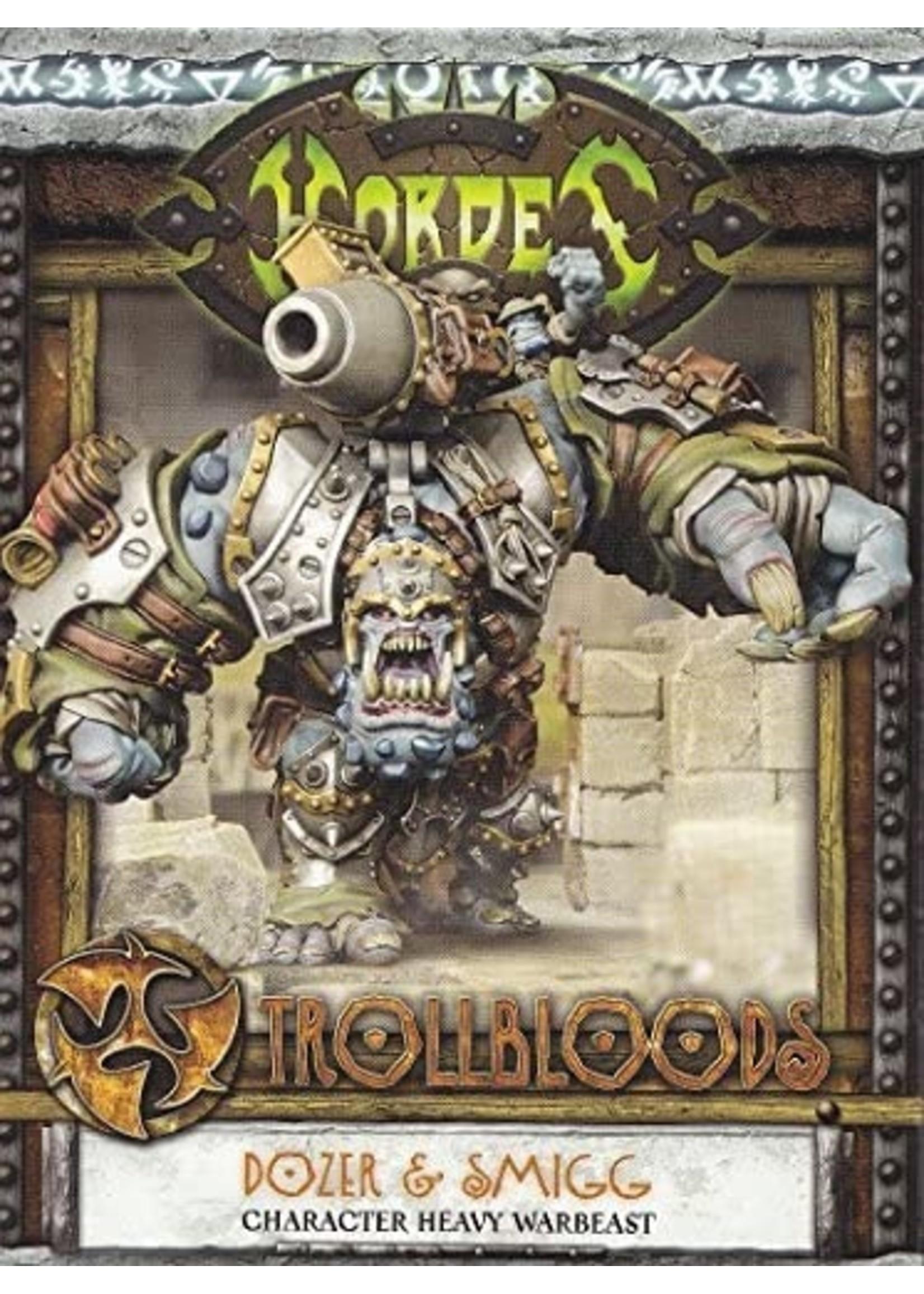 Hordes: Trollblood Dozer & Smigg Heavy Warbeast (Resin and White Metal)