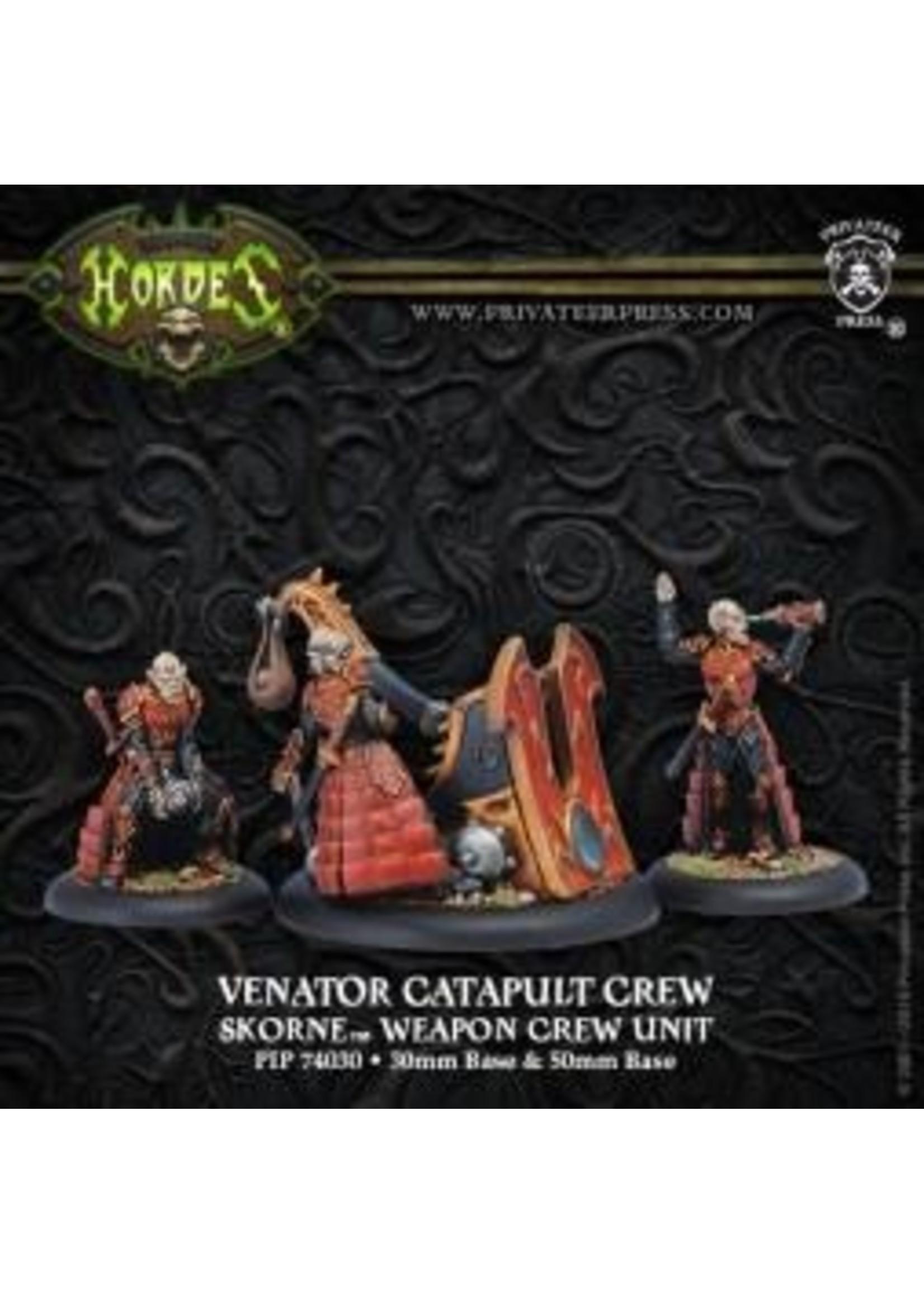 Hordes: Skorne Venator Catapult Crew Weapon Crew Unit (White Metal)