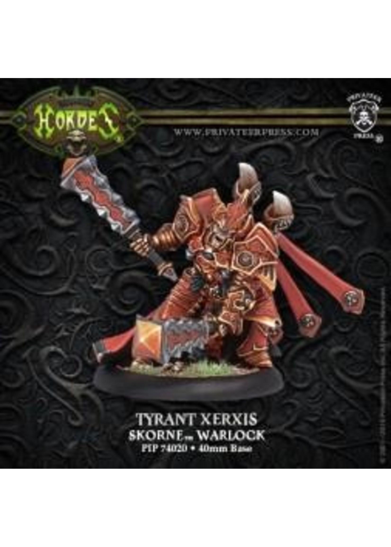Hordes: Skorne Tyrant Xerxis Warlock (White Metal)
