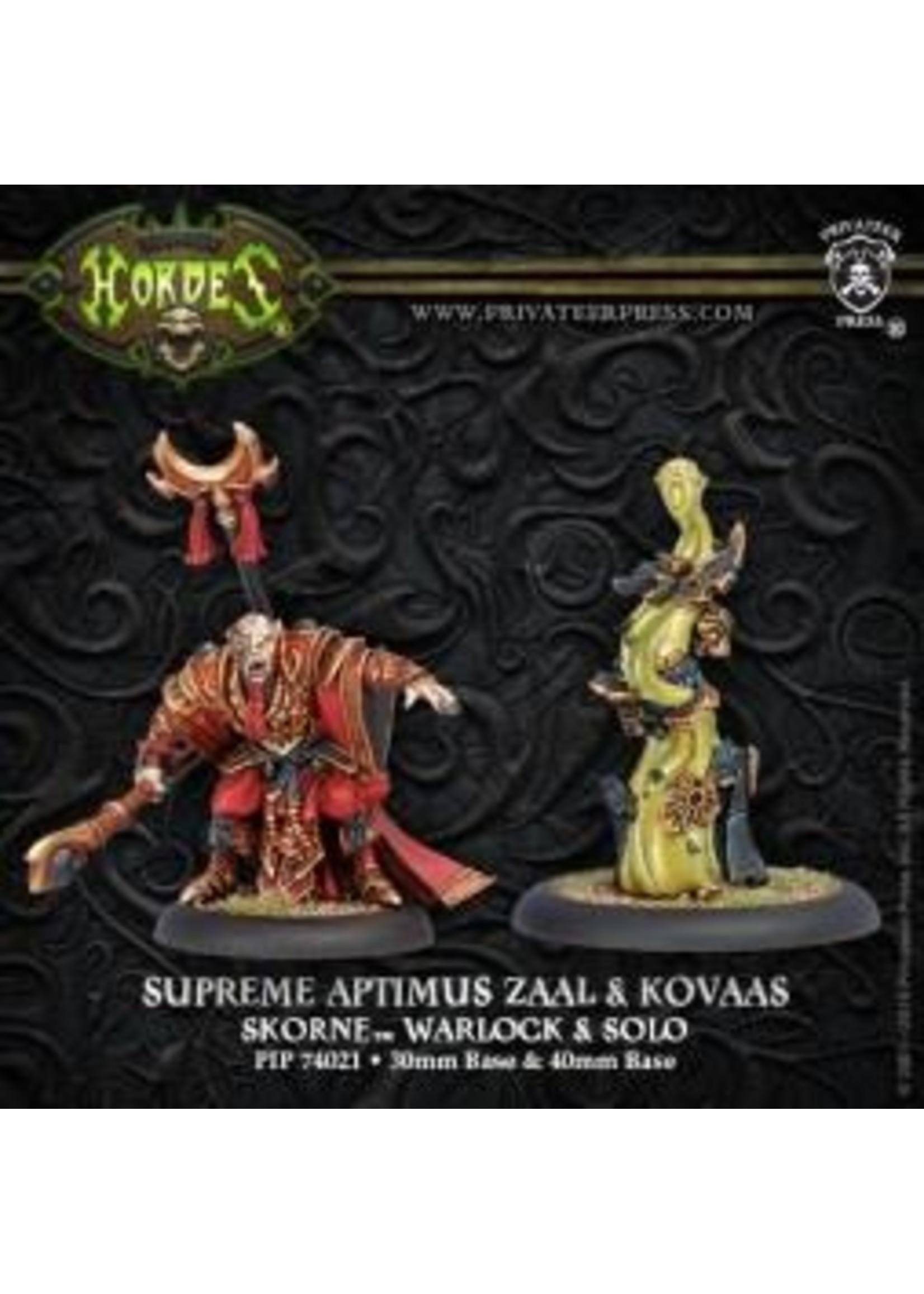 Hordes: Skorne Supreme Aptimus Zaal and Kovaas Warlock and Solo (White Metal)