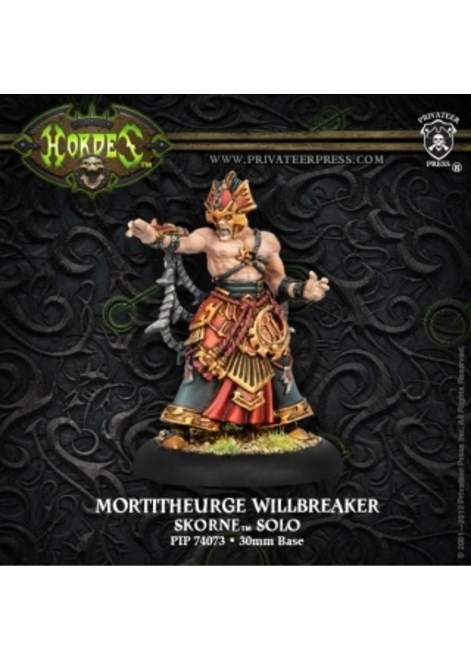 Hordes: Skorne Mortitheurge Willbreaker Solo (White Metal)