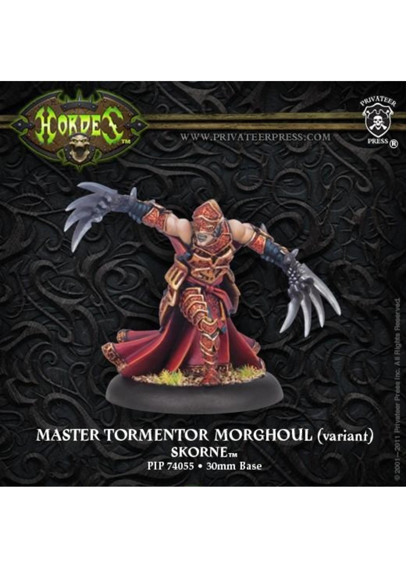 Hordes: Skorne Master Tormentor Morghoul Warlock (White Metal)