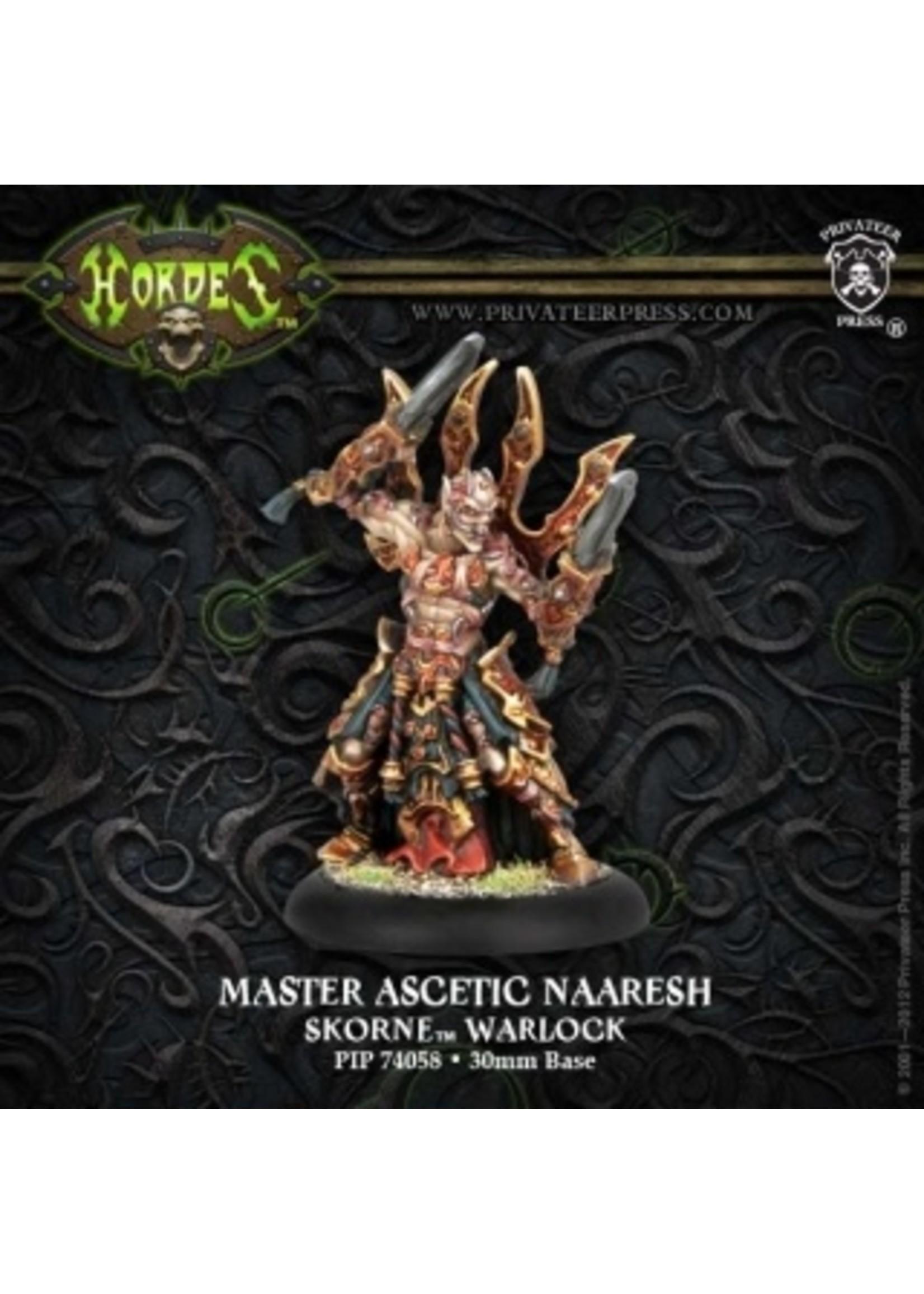 Hordes: Skorne Master Ascetic Naaresh Warlock (White Metal)