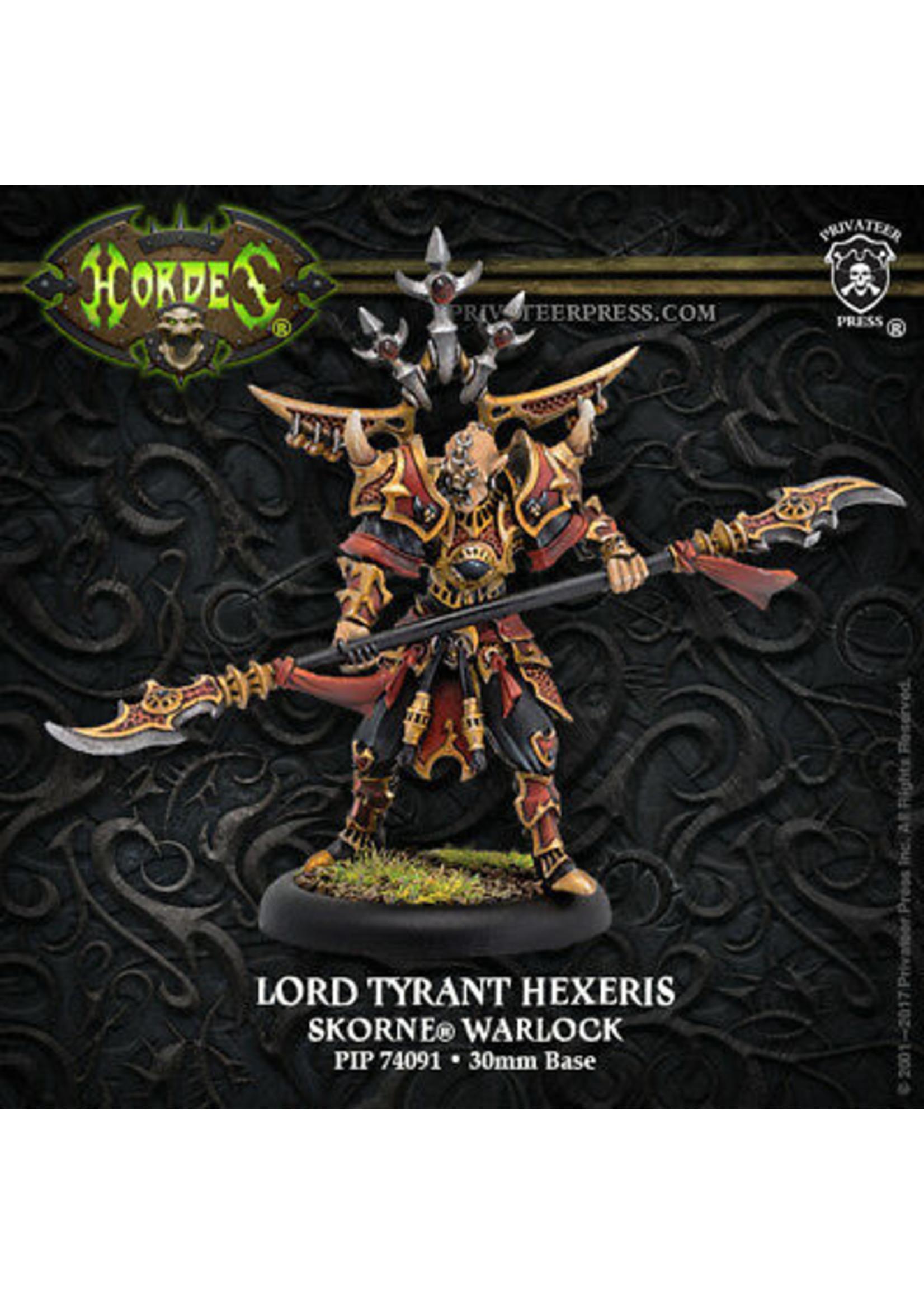 Hordes: Skorne Lord Tyrant Hexeris Warlock (White Metal Resculpt)