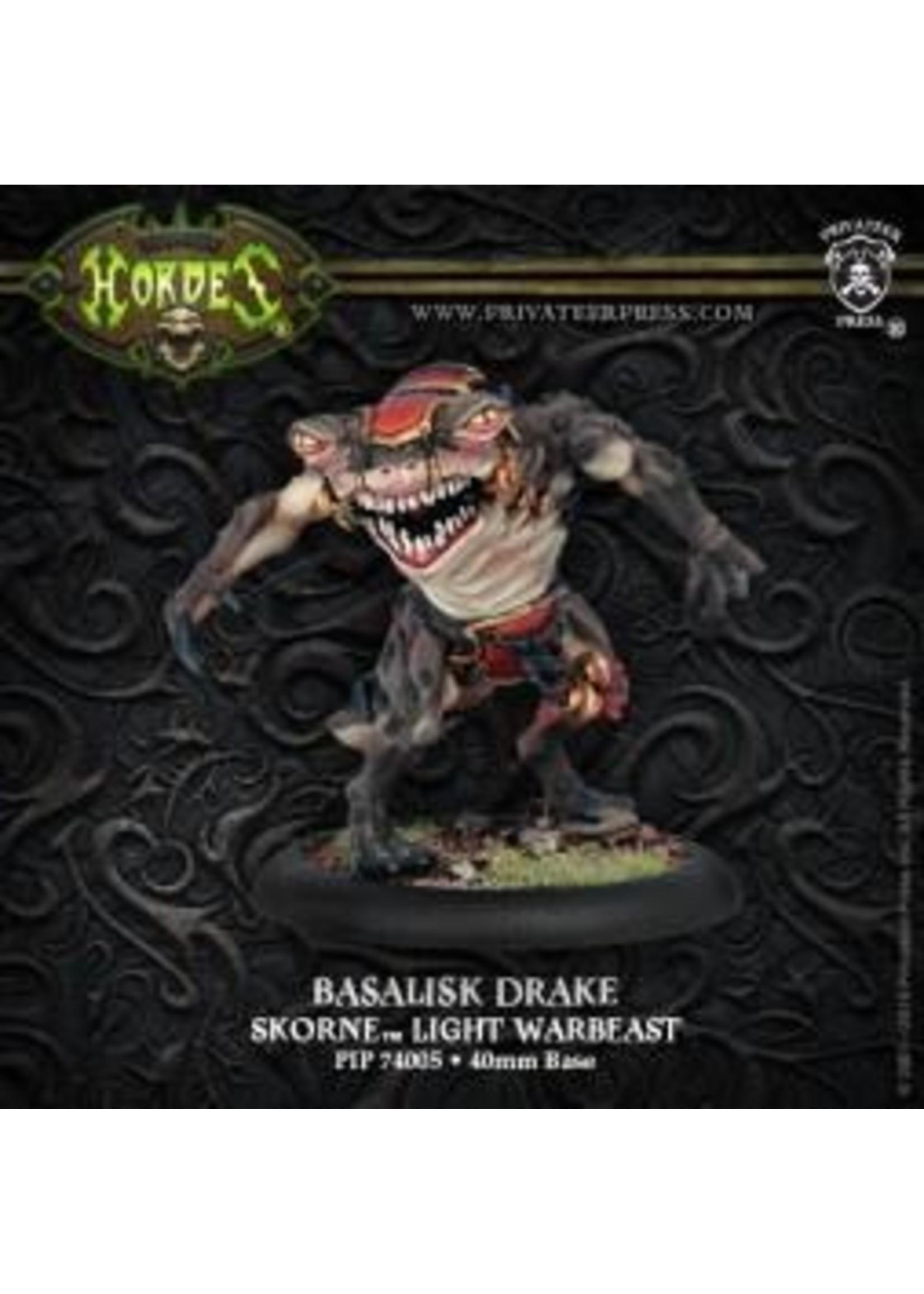 Hordes: Skorne Basalisk Drake Light Warbeast (White Metal)