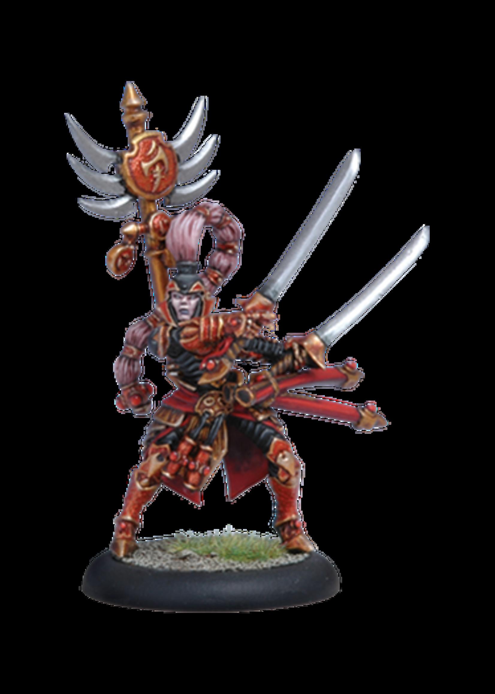 Hordes: Skorne Archdomina Makeda Warlock (White Metal)