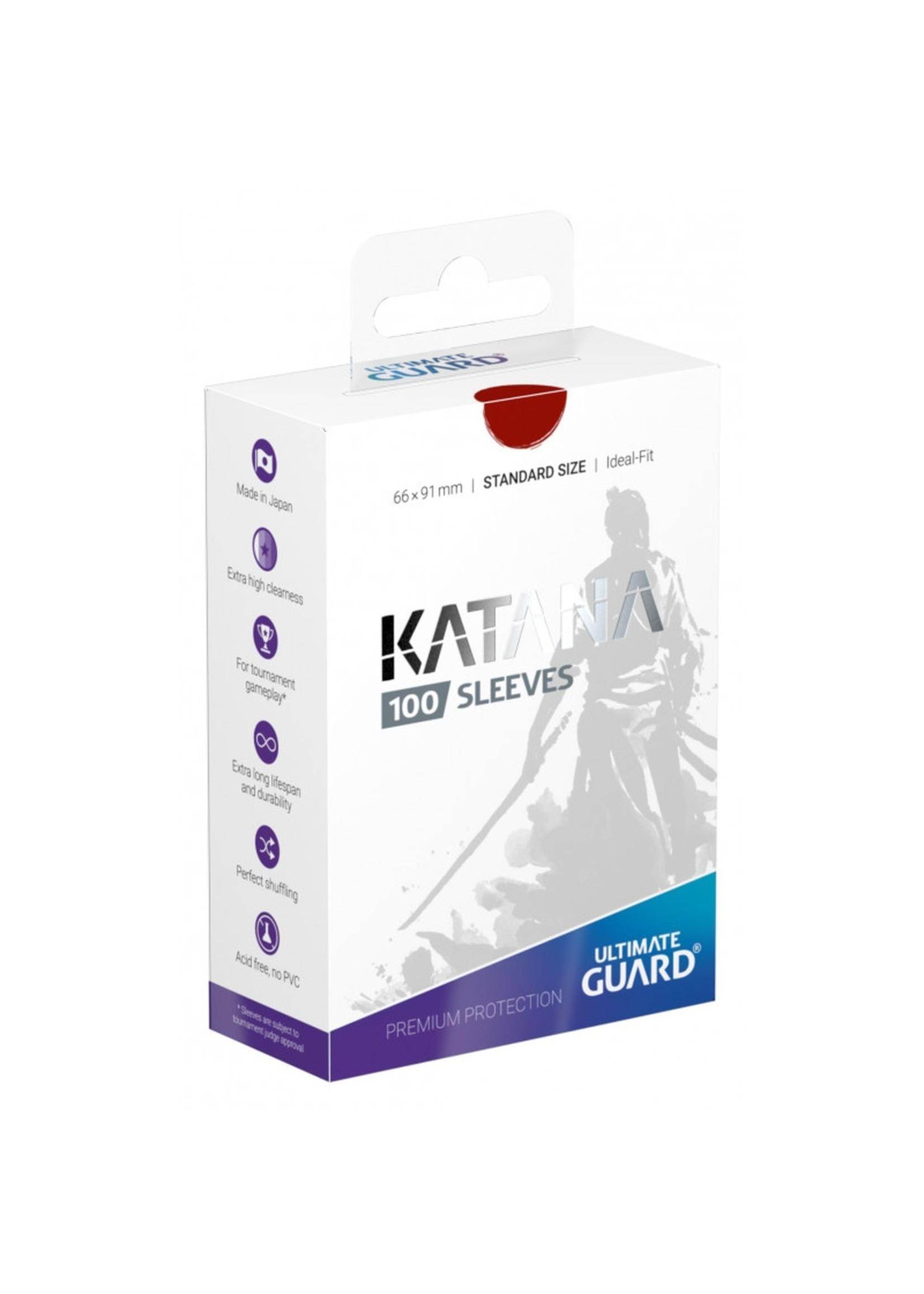 Katana Card Sleeves 100ct Red