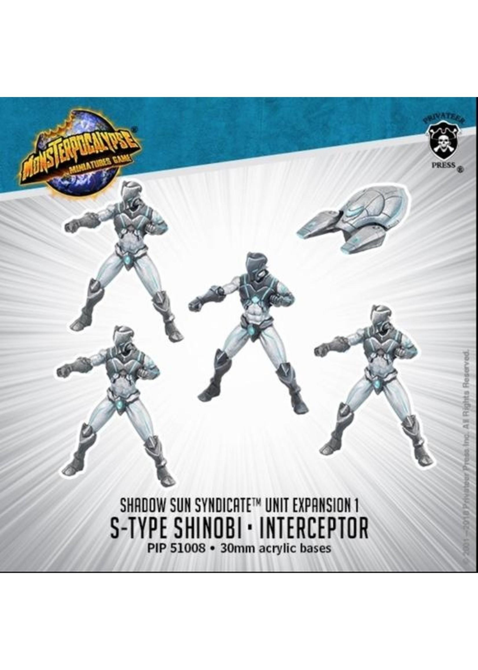 Monsterpocalypse: Shadow Sun Syndicate S-Type Shinobi & Interceptor Unit (Resin and White Metal)