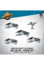 Monsterpocalypse: Shadow Sun Syndicate Sun Fighter & Shadow Gate Unit (Resin and White Metal)