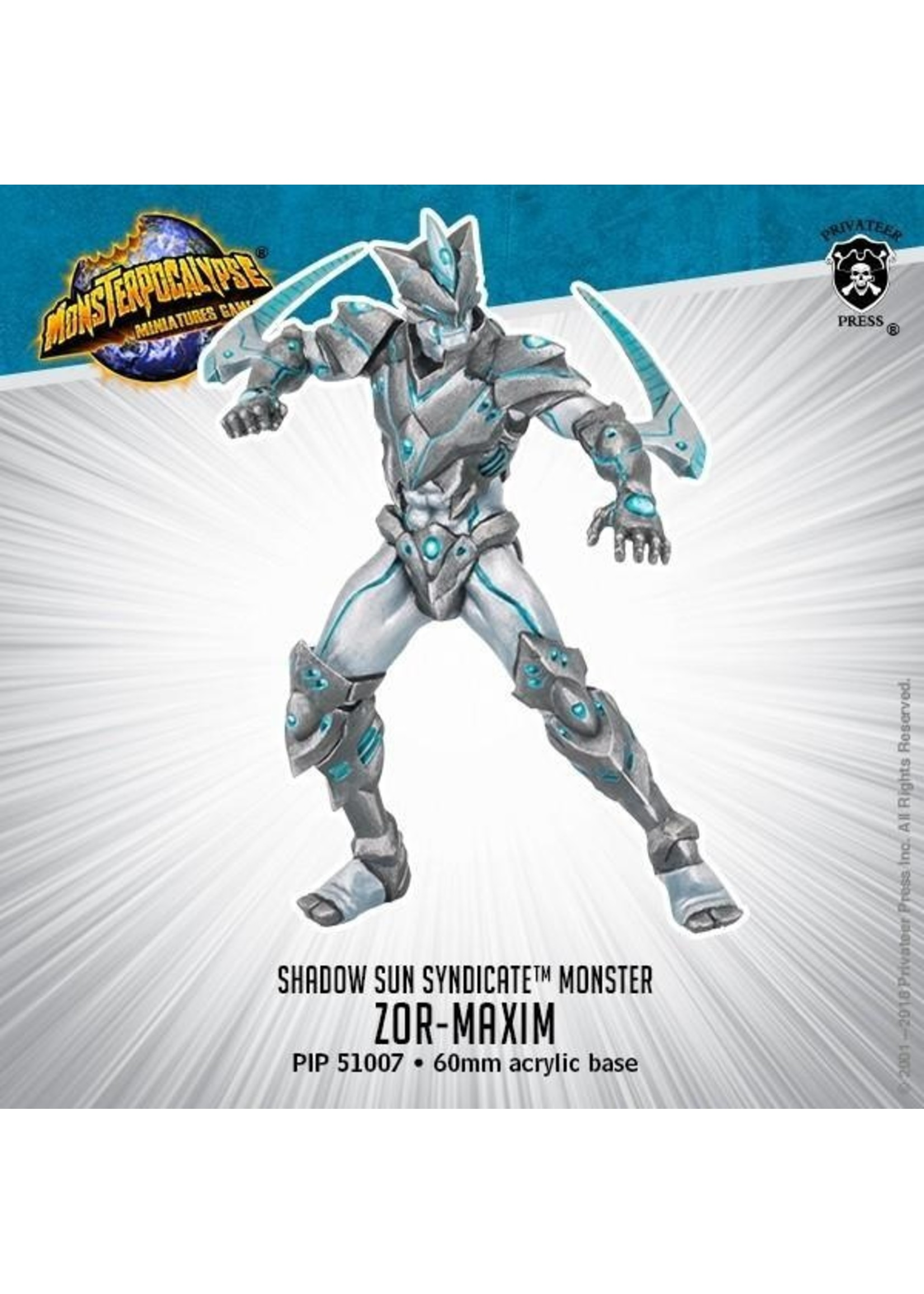 Monsterpocalypse: Shadow Sun Syndicate Zor-Maxim Monster (Resin and White Metal)