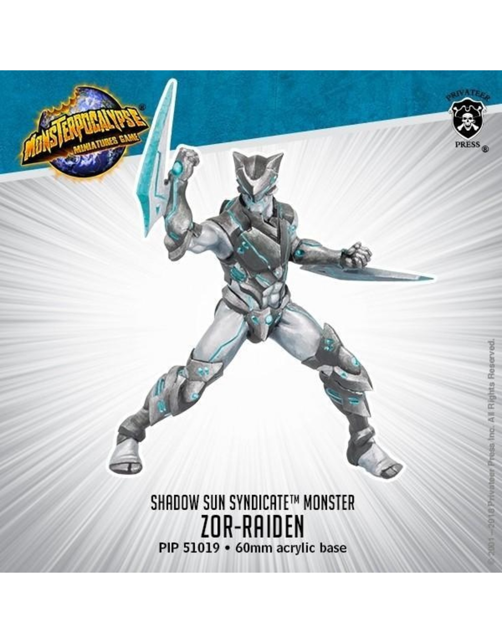 Monsterpocalypse: Shadow Sun Syndicate Zor-Raiden Monster (Resin and White Metal)