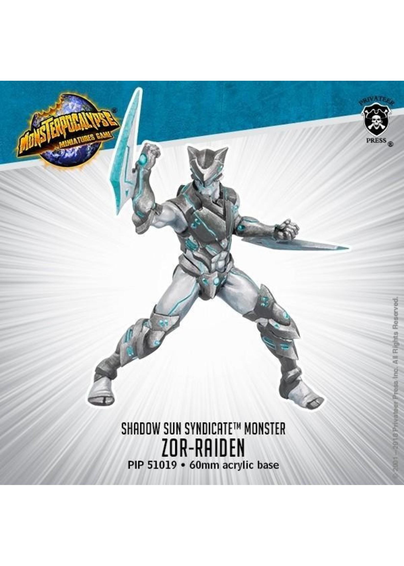 Monsterpocalypse: Shadow Sun Syndicate Zor-Raiden Monster (Resin and White Metal)