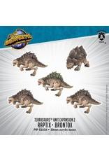 Monsterpocalypse: Terrasaur Raptix and Brontox Units (Resin and White Metal)