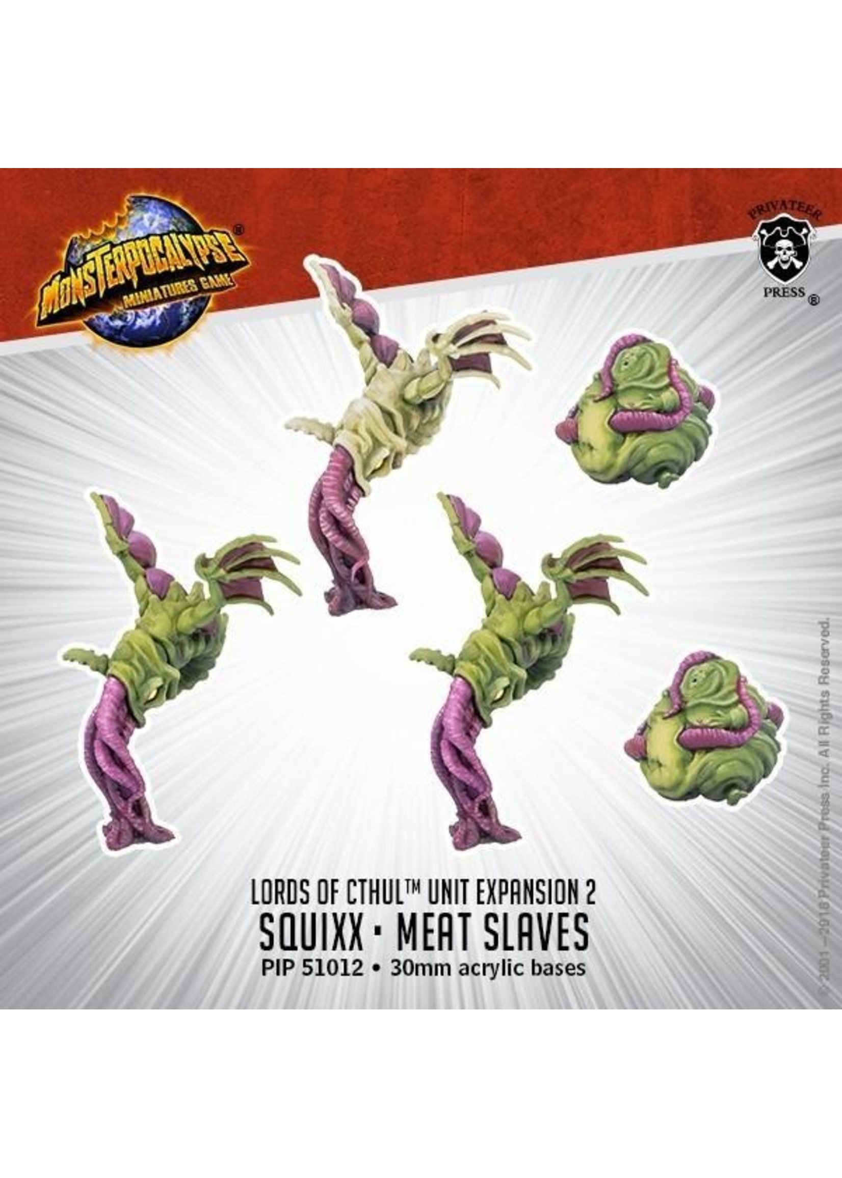Monsterpocalypse: Lords of Cthul Squix & Meat Slave (Resin)