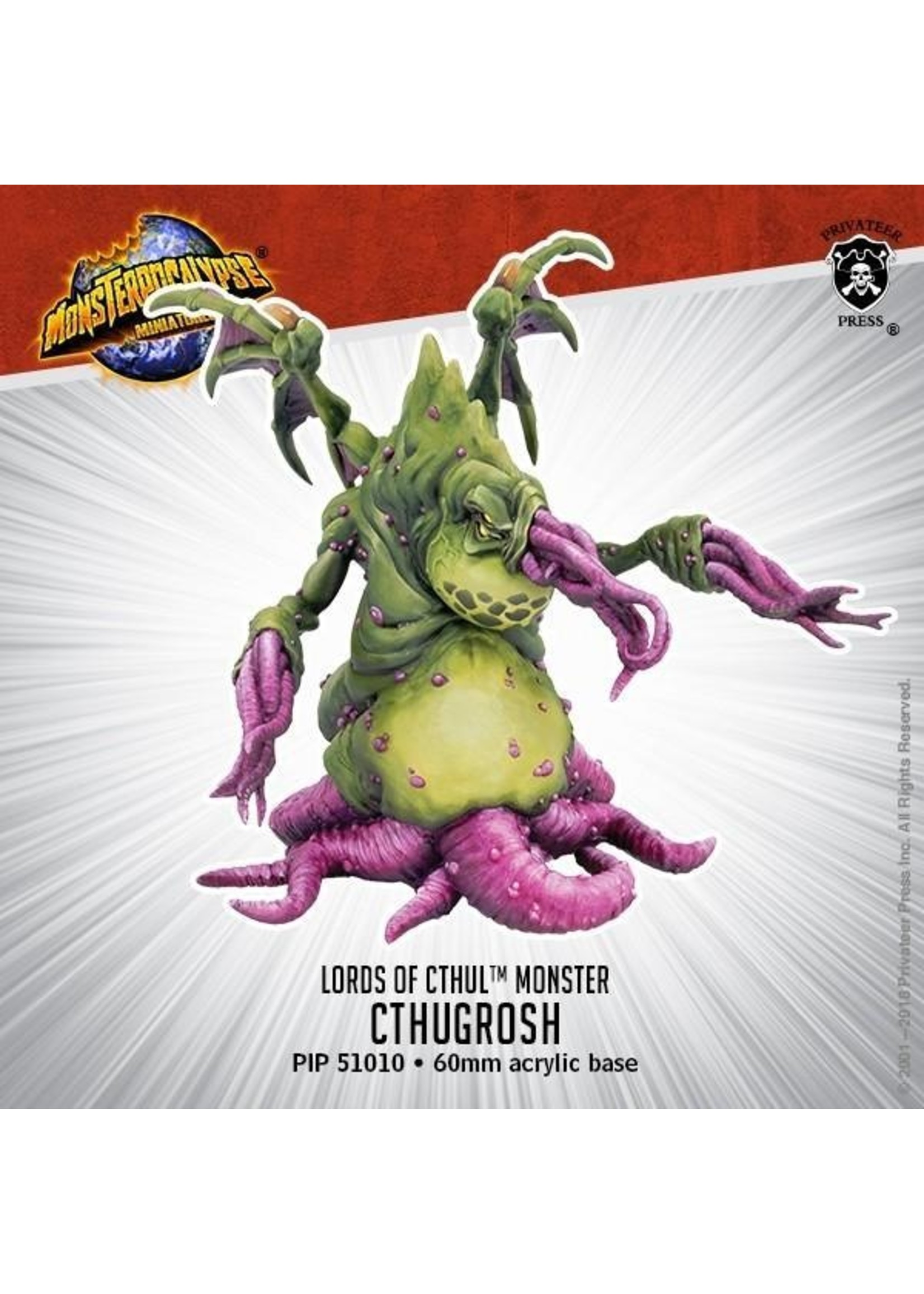 Monsterpocalypse: Lords of Cthul Cthugrosh Monster (Resin)