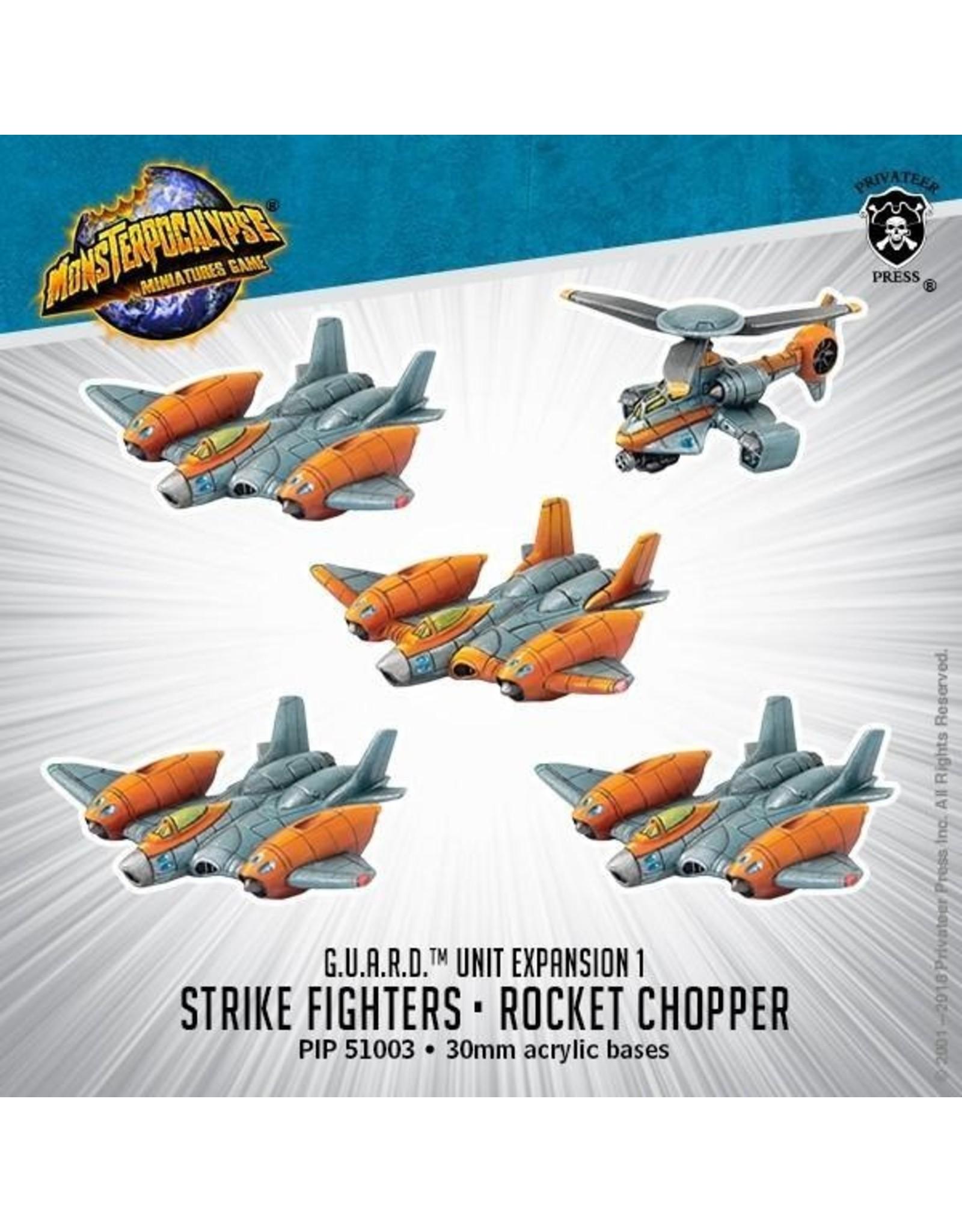 Monsterpocalypse: G.U.A.R.D. Strike Fighters & Rocket Chopper Unit (Resin)
