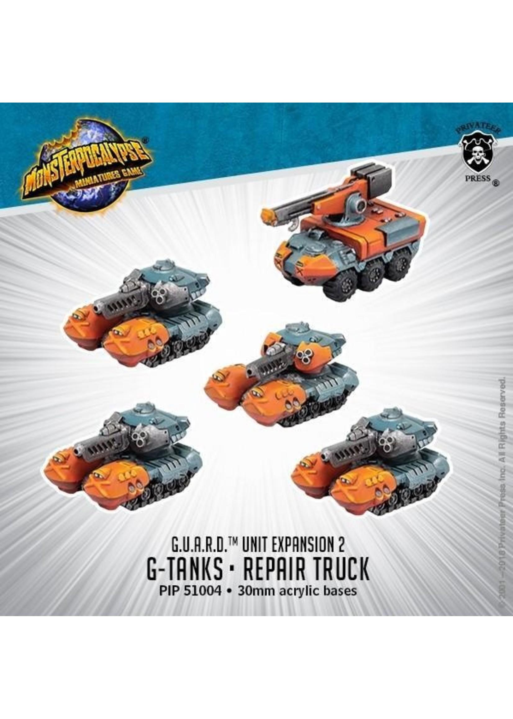 Monsterpocalypse: G.U.A.R.D. G-Tanks & Repair Truck Unit (Resin)