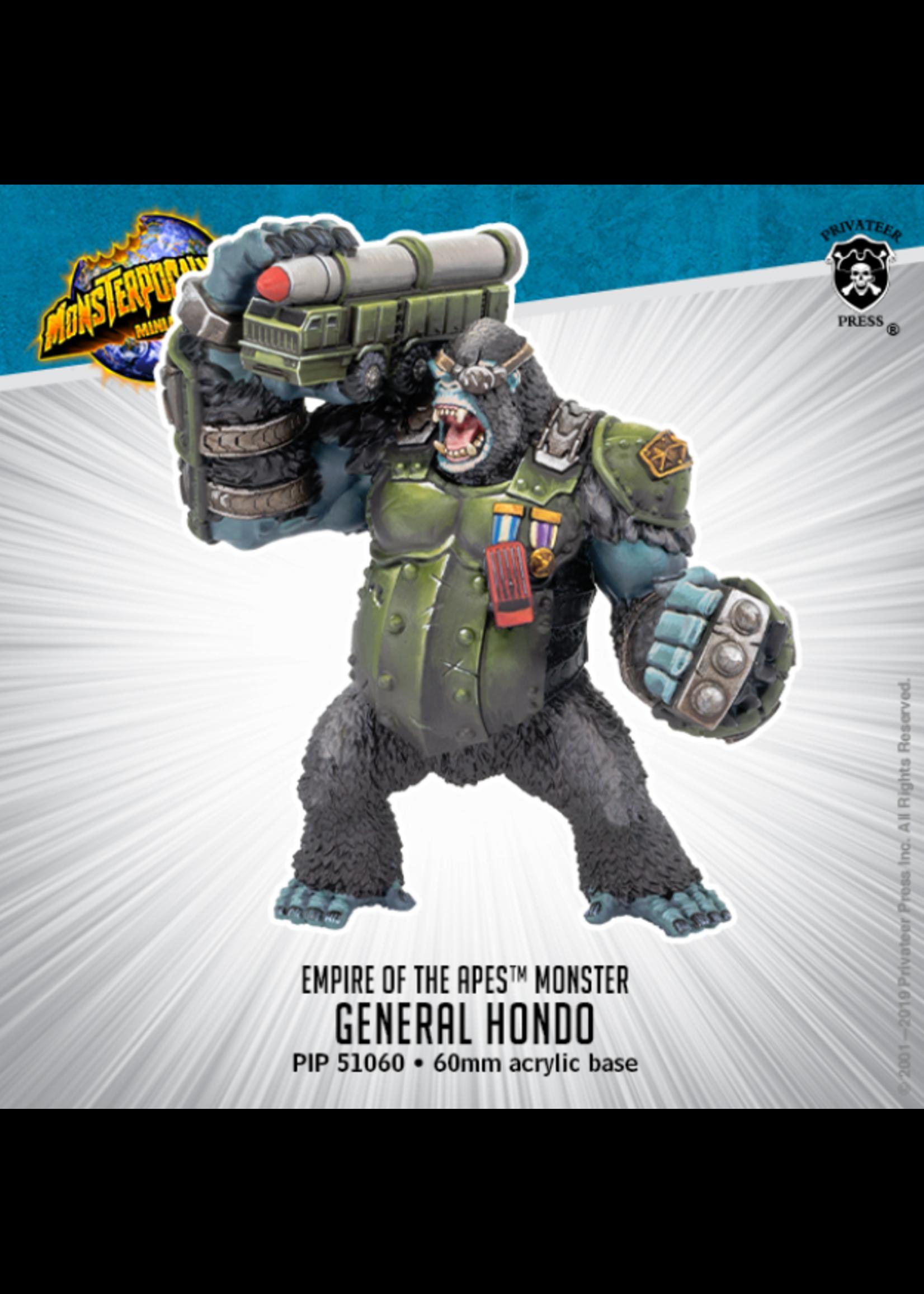 Monsterpocalypse: Empire of the Apes General Hondo Monster (Resin)