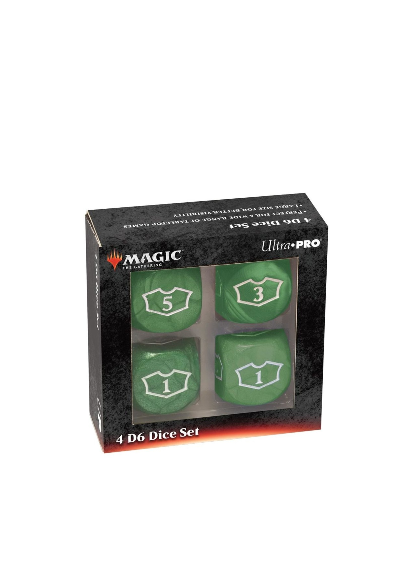 Magic the Gathering: Deluxe Loyalty Dice Set (4 D6 22mm) - Green