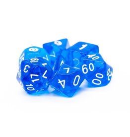 Old School Dice 7 Translucent Blue